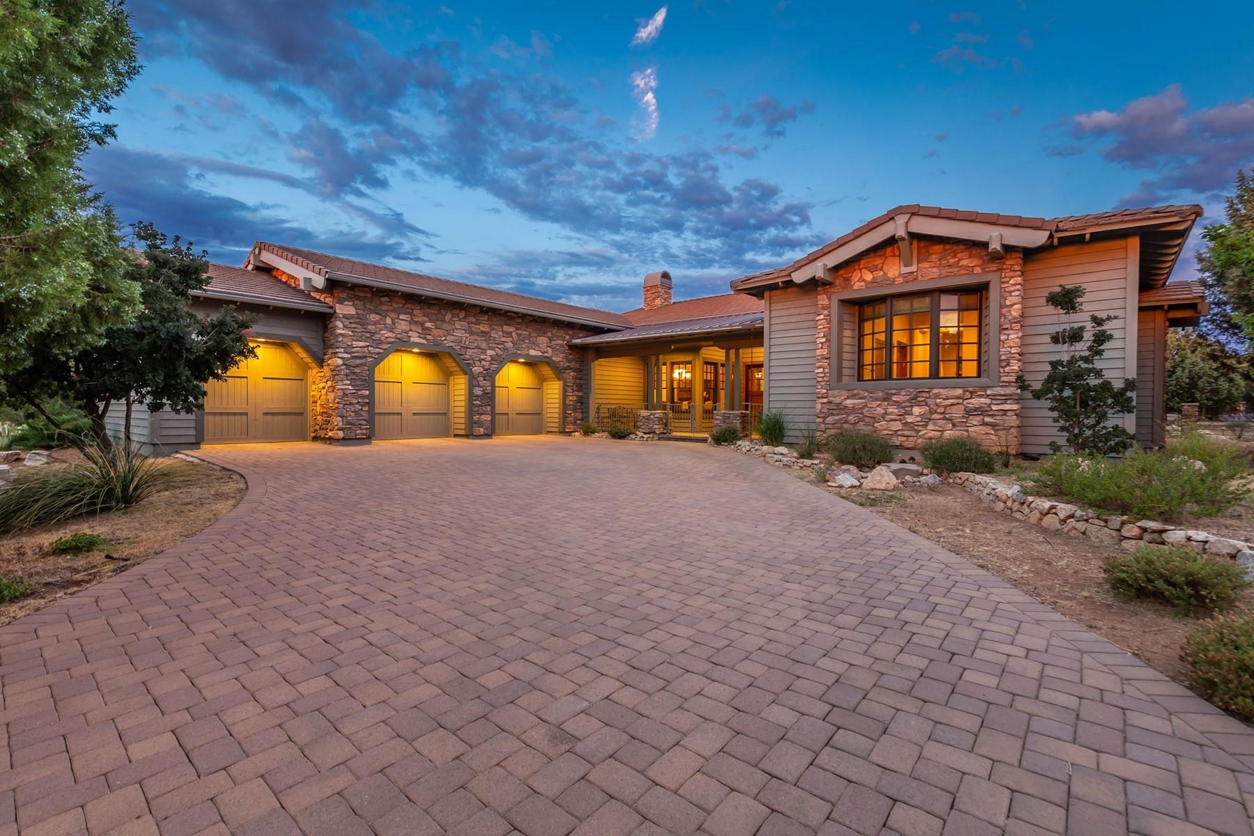 Single Family Homes por un Venta en Fantastic Custom Prescott Home 15055 Meander Mountain Way Prescott, Arizona 86305 Estados Unidos