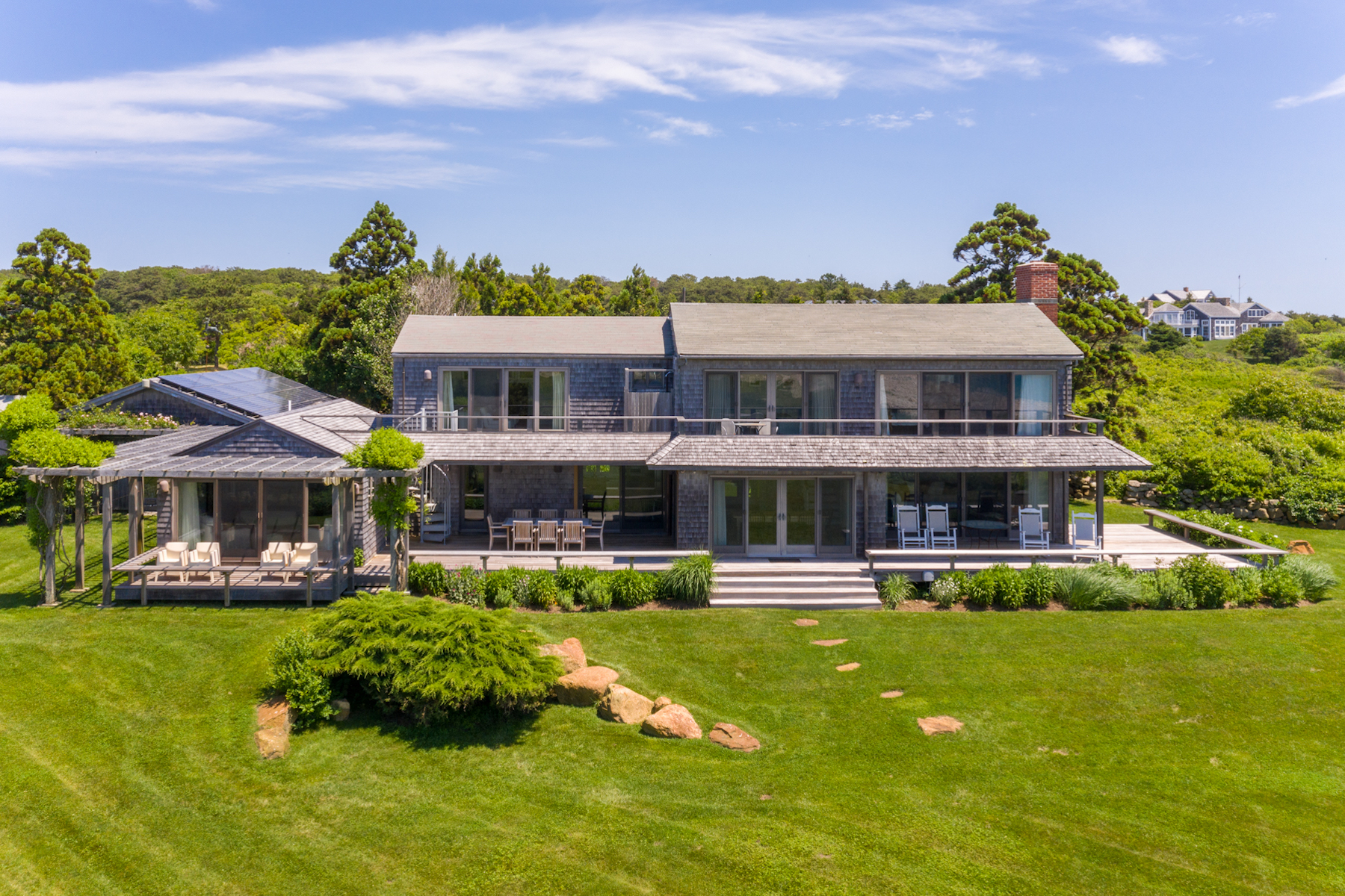 Single Family Homes for Sale at Seaside Retreat on Martha's Vineyard 95 Stonewall Road Chilmark, Massachusetts 02535 United States