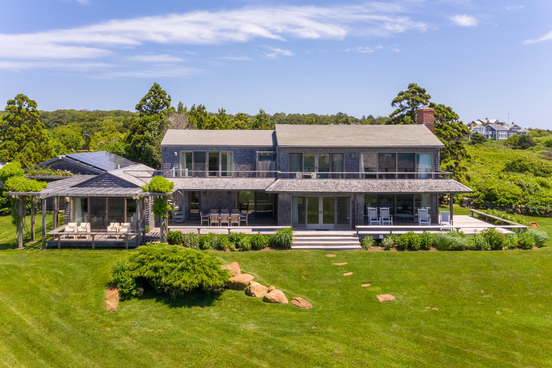 Single Family Homes for Active at Seaside Retreat on Martha's Vineyard 95 Stonewall Road Chilmark, Massachusetts 02535 United States