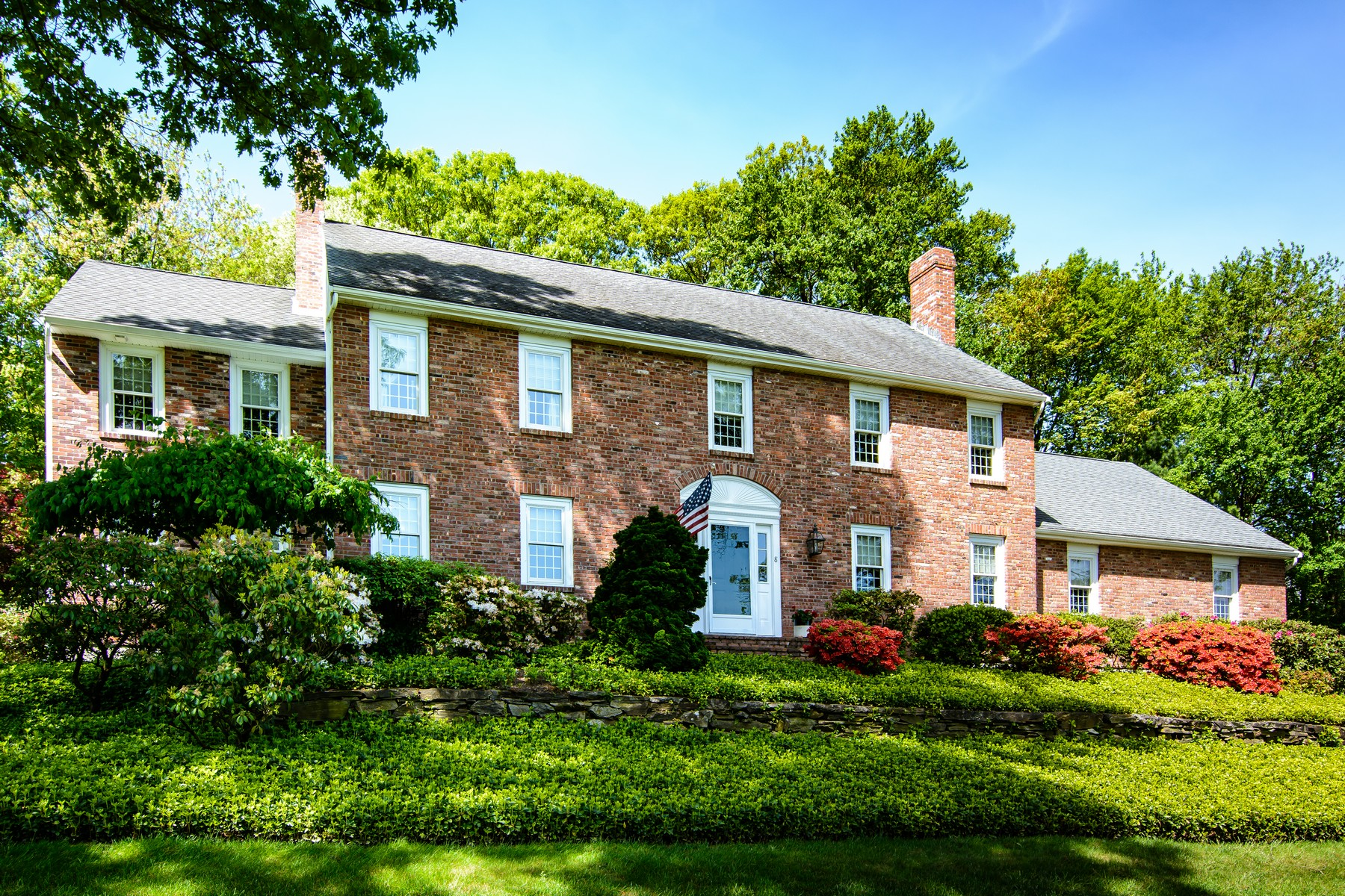 Single Family Homes for Active at Stunning Brick Front Colonial 8 Olde Meetinghouse Road Westborough, Massachusetts 01581 United States