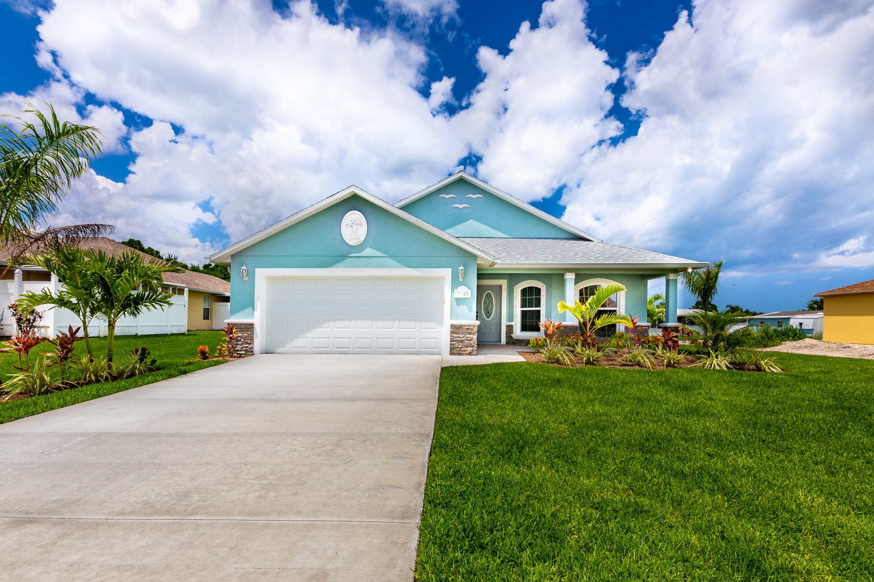 Single Family Homes for Sale at Beautiful, Brand-New Home With Contemporary Style & Luxury Textiles 3720 12th Street Micco, Florida 32976 United States