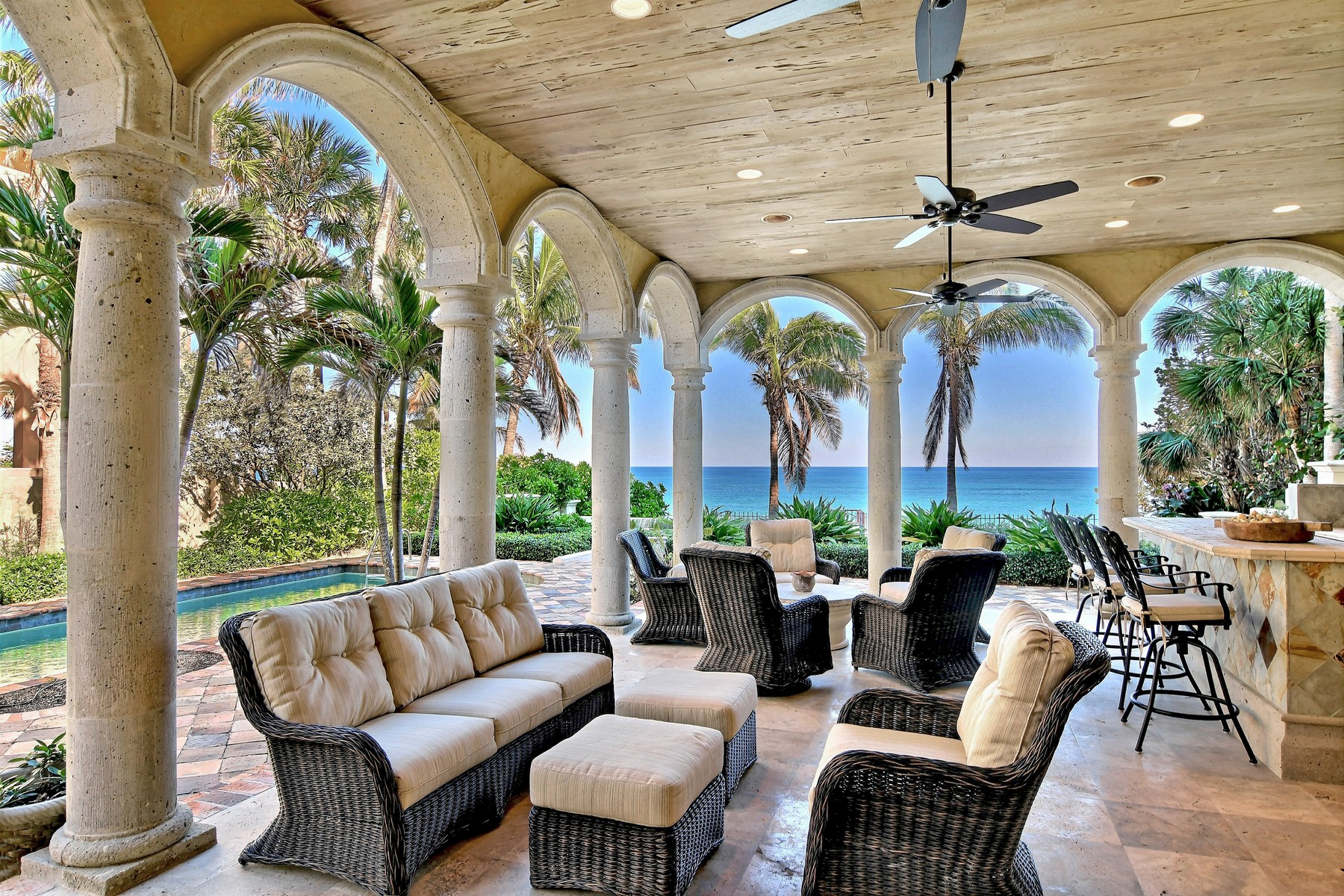 Single Family Home for Sale at Mediterranean Oceanfront Masterpiece! 3620 Ocean Drive Vero Beach, Florida 32963 United States