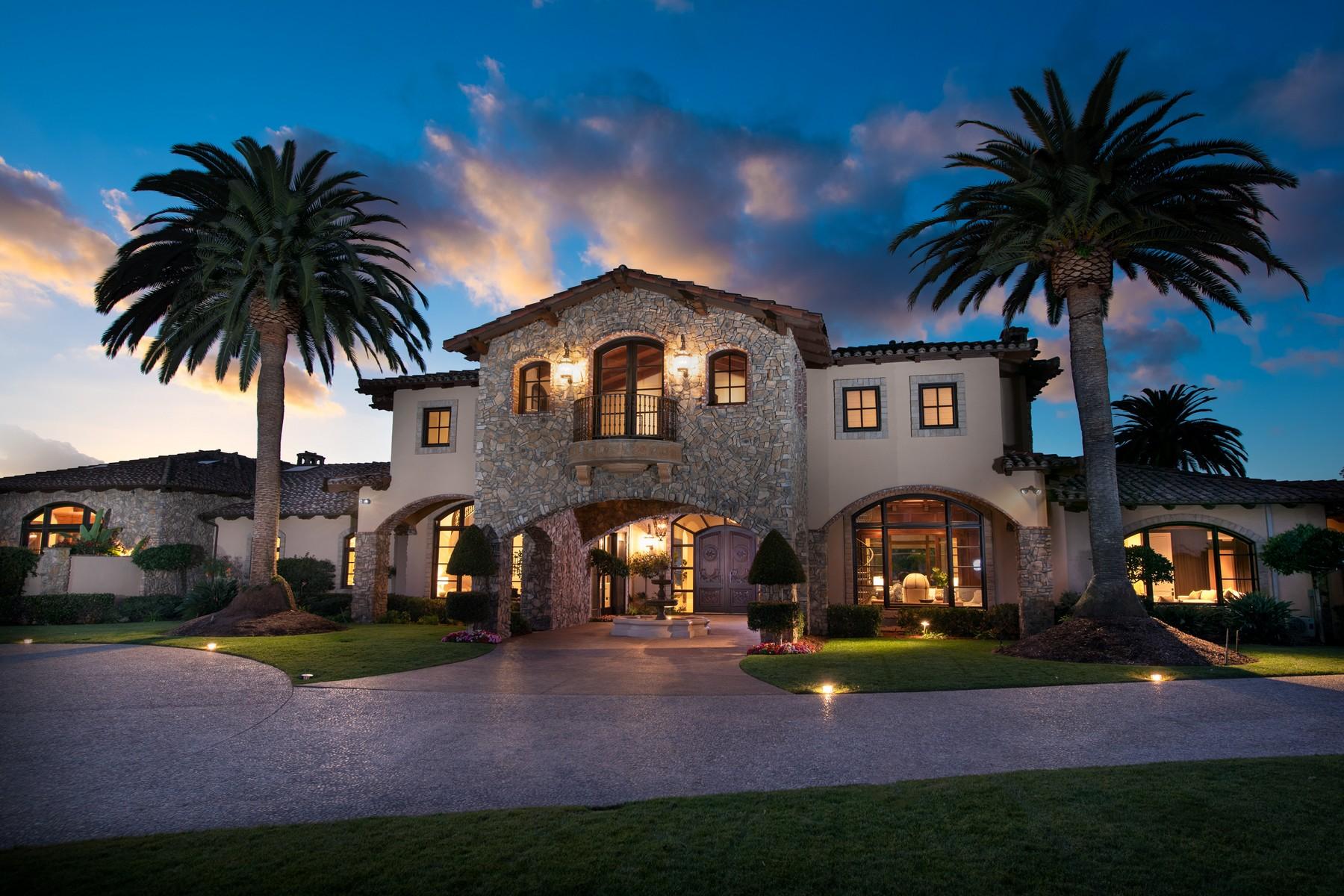 Single Family Homes for Sale at AWE INSPIRING MASTERPIECE 6306 El Apajo Rancho Santa Fe, California 92067 United States