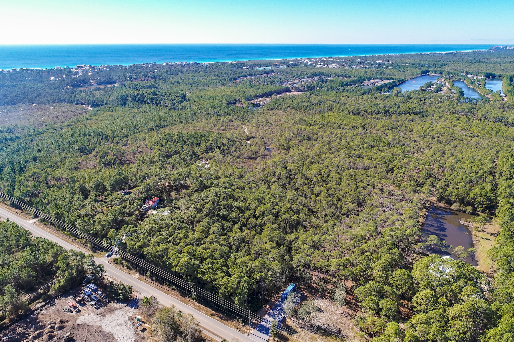 Land for Sale at Treed Acreage South of Highway 98 Near Scenic 30A TBD Thompson Road Santa Rosa Beach, Florida 32459 United States