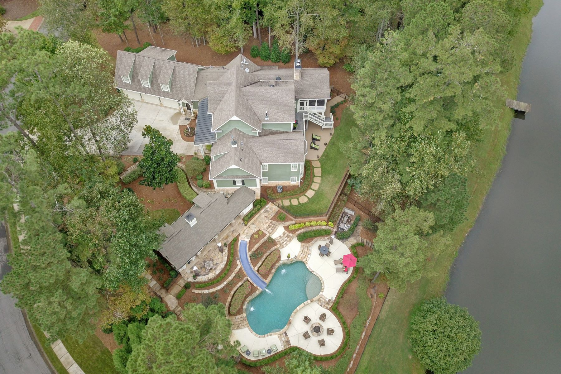 Single Family Home for Sale at Gorgeous Southern Living Executive Home Nestled On a Private Lakefront Lot! 2825 Tanner Lake Trail NW Marietta, Georgia 30064 United States