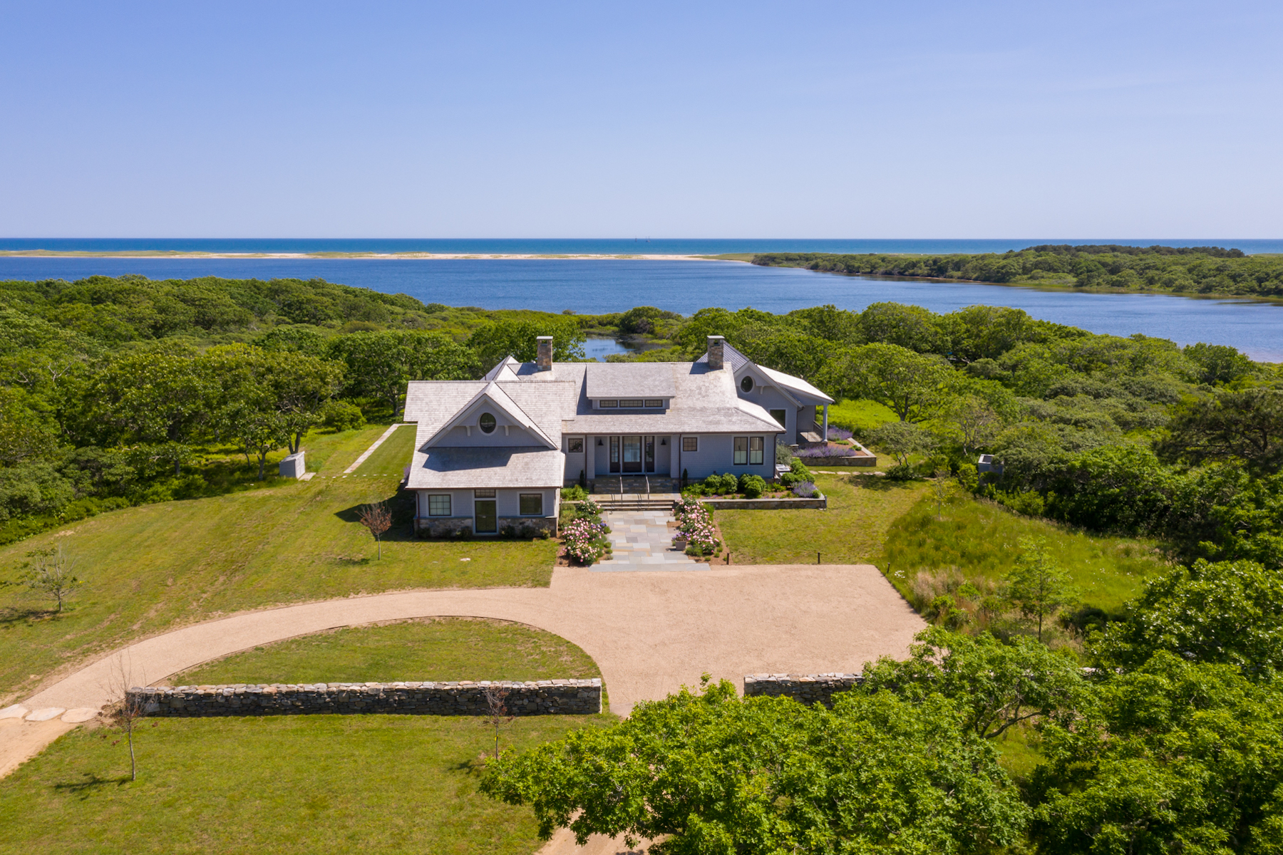 Single Family Homes for Active at Waterfront Estate on Edgartown Great Pond 10 Jacobs Neck Road Edgartown, Massachusetts 02539 United States