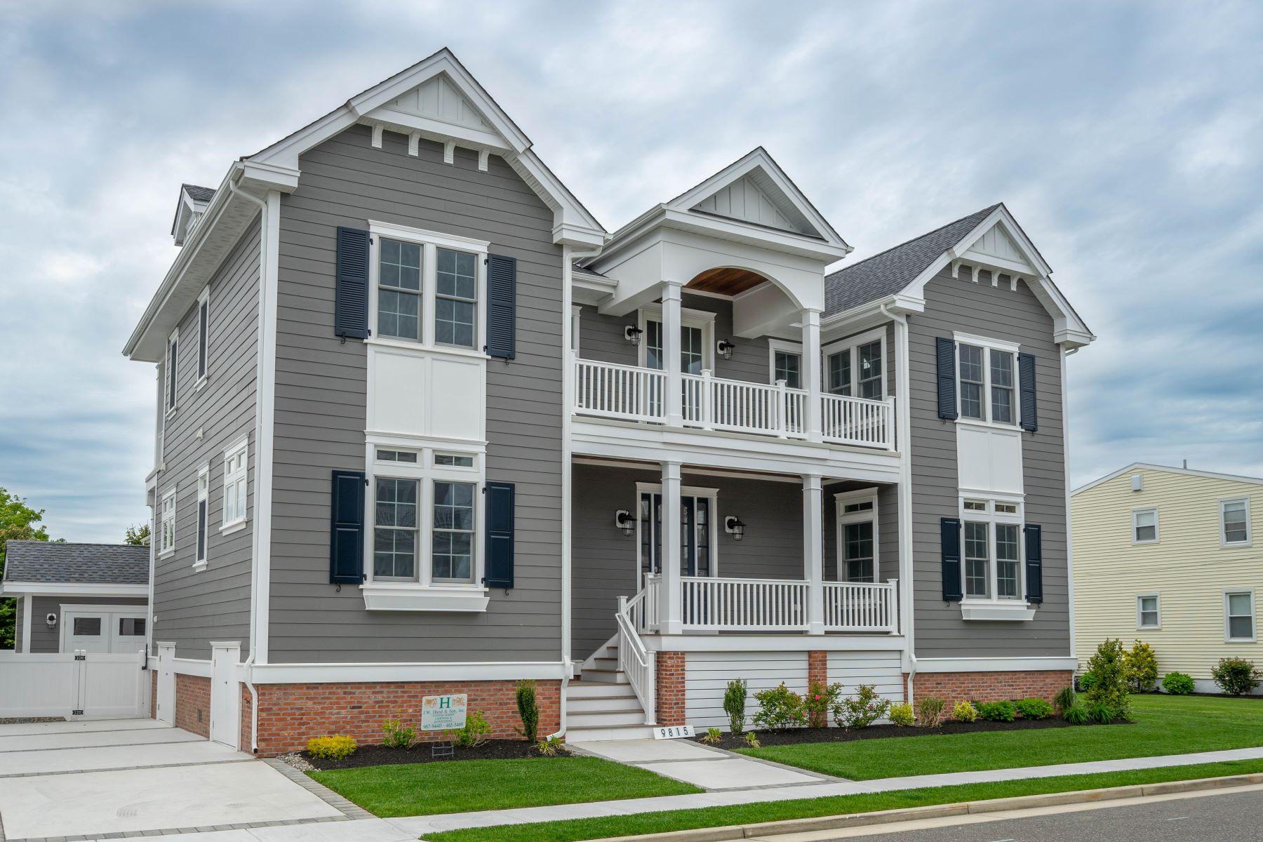 Частный односемейный дом для того Продажа на Inspiring New Construction 9815 Corinthain Drive, Stone Harbor, Нью-Джерси 08247 Соединенные Штаты