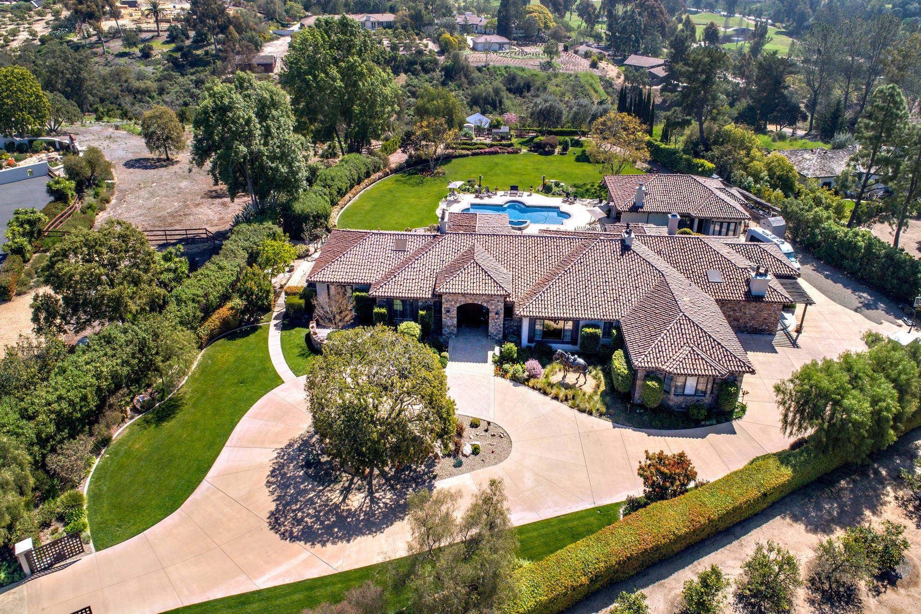 Single Family Home for Sale at 4843 La Jacaranda Rancho Santa Fe, California, 92067 United States