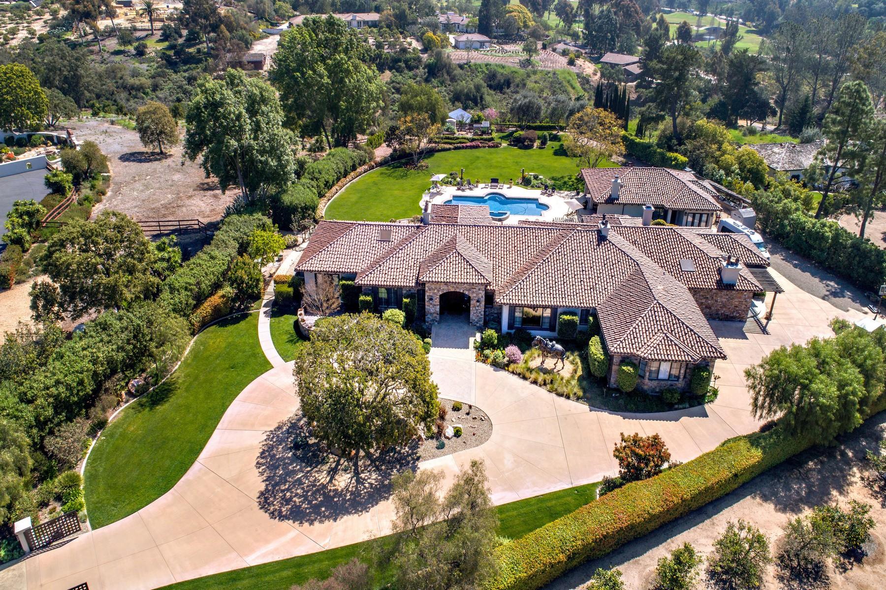 단독 가정 주택 용 매매 에 4843 La Jacaranda Rancho Santa Fe, 캘리포니아, 92067 미국