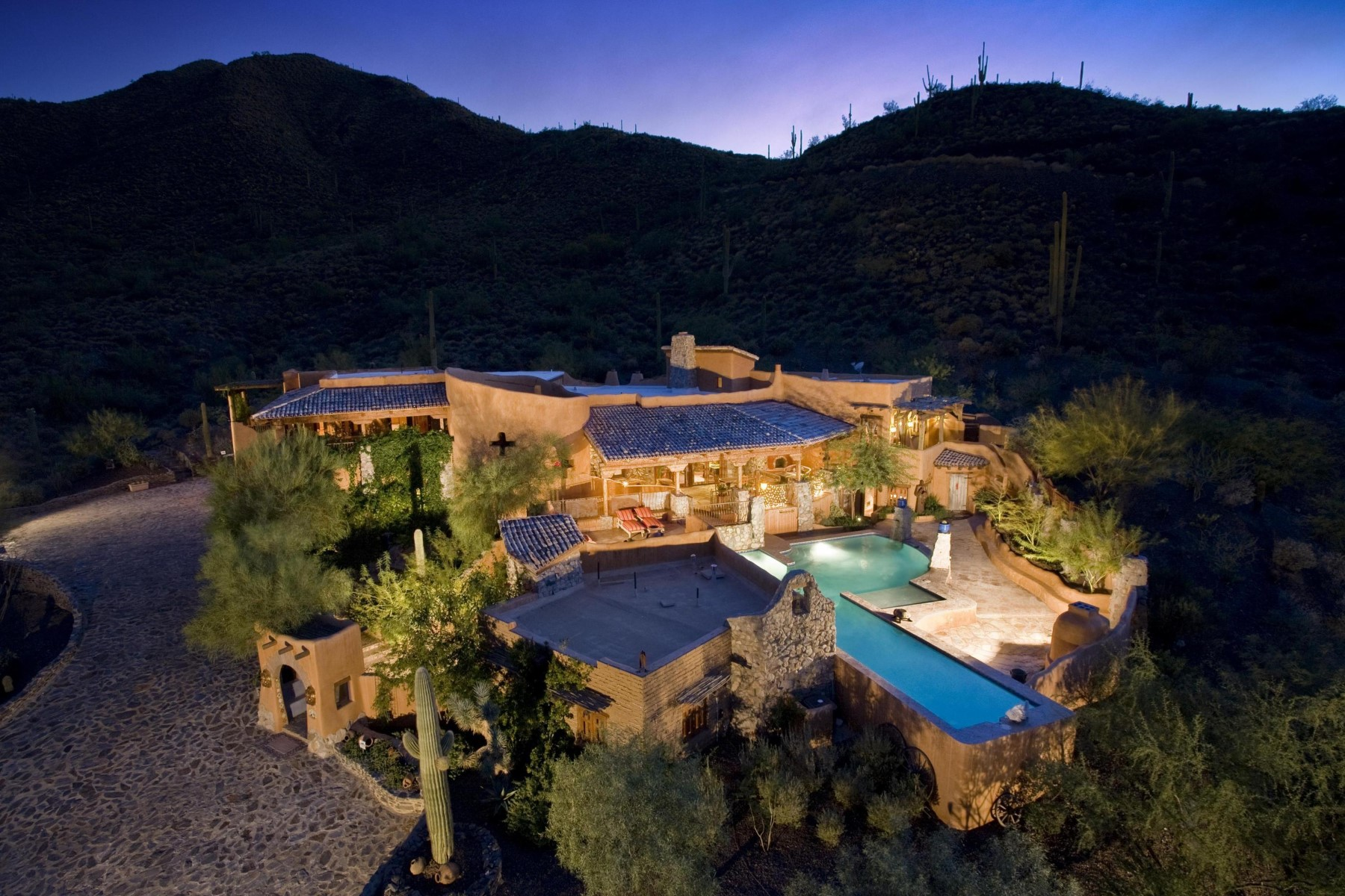 single family homes for Active at Stunning Spanish Cave Creek Home 37405 N School House Rd Cave Creek, Arizona 85331 United States