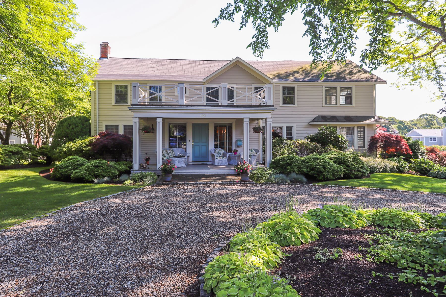 Single Family Home for Active at Elegant colonial a stone's throw from beach 140 Beach Bluff Avenue Swampscott, Massachusetts 01907 United States