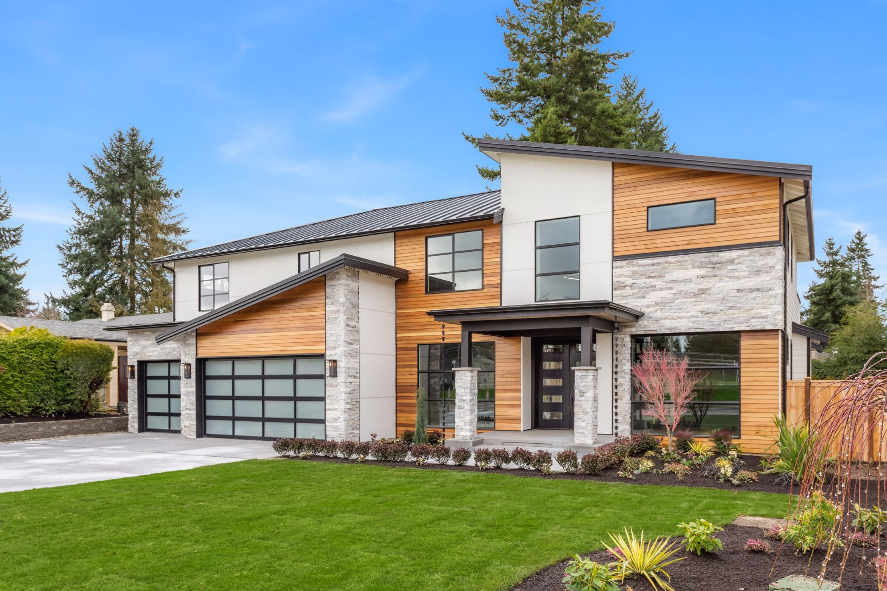 Single Family Homes for Sale at Exquisite NW Contemporary 807 143rd Ave SE, Bellevue, Washington 98007 United States