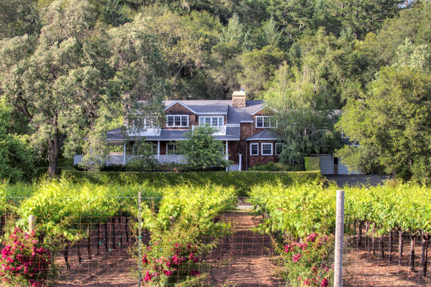 Einfamilienhaus für Verkauf beim Beautiful Craftsman Vineyard Estate 3950 Silverado Trail Calistoga, Kalifornien 94515 Vereinigte Staaten