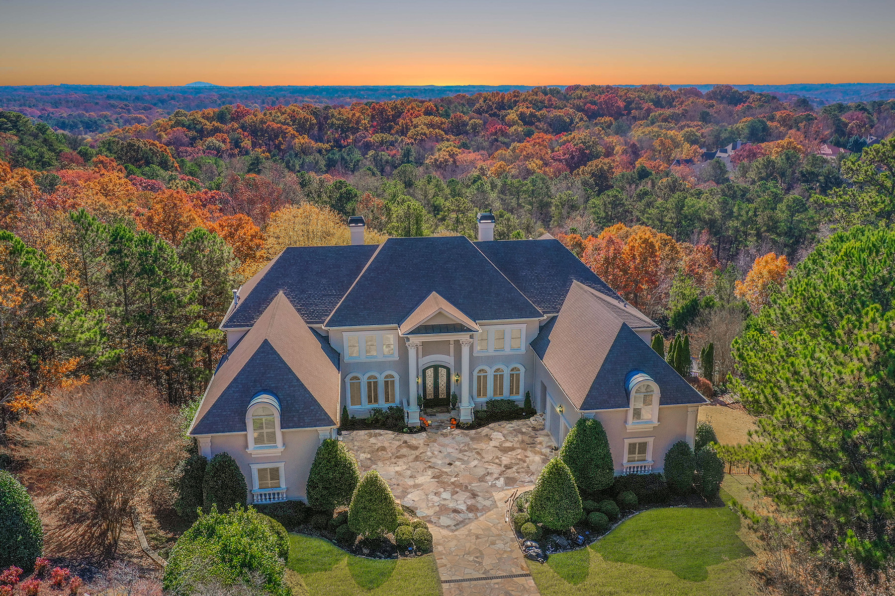 Single Family Homes for Active at Exceptional Renovated 5.2 Acre Estate In Country Club Of The South 1045 Bedford Gardens Drive Johns Creek, Georgia 30022 United States
