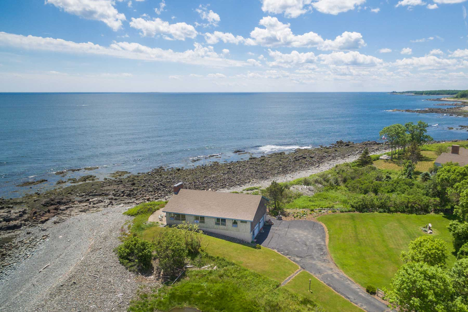 Single Family Home for Sale at Cozy Year-round Cottage on Private Oceanfront Peninsula 21 Kings Road York, Maine, 03909 United States