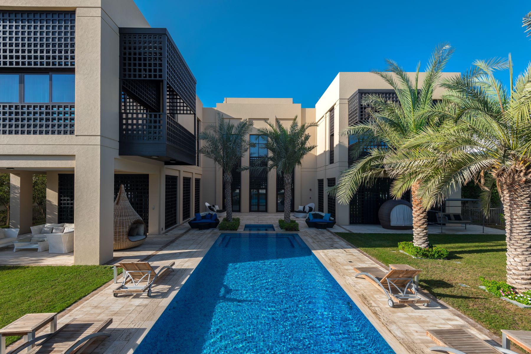 Single Family Home for Sale at Modern Arabic Mansion on the Crystal Lagoon Dubai, United Arab Emirates