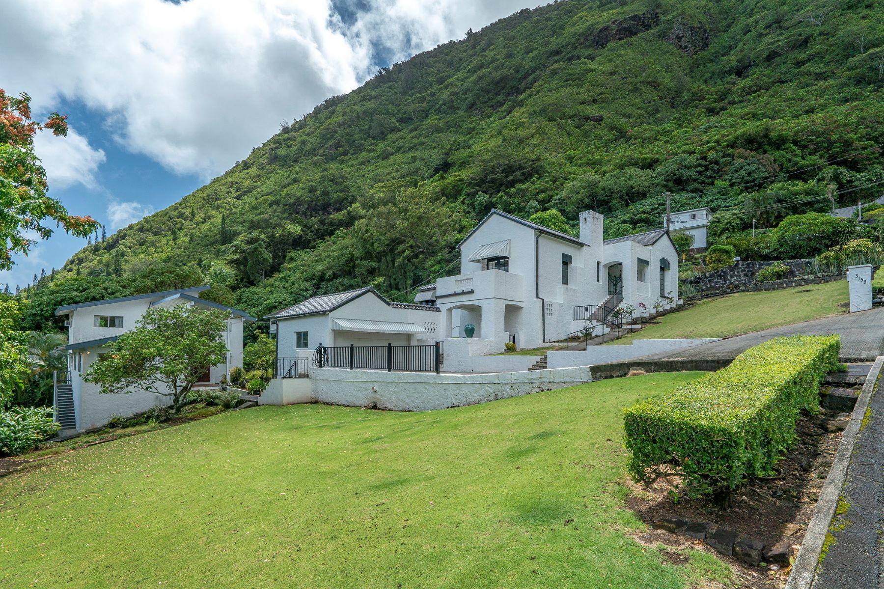 Single Family Homes 为 销售 在 Old World Charm, Single Family Home, Mountain View, Luxury Home 3153/3159 Huelani Pl 火奴鲁鲁, 夏威夷 9682 美国