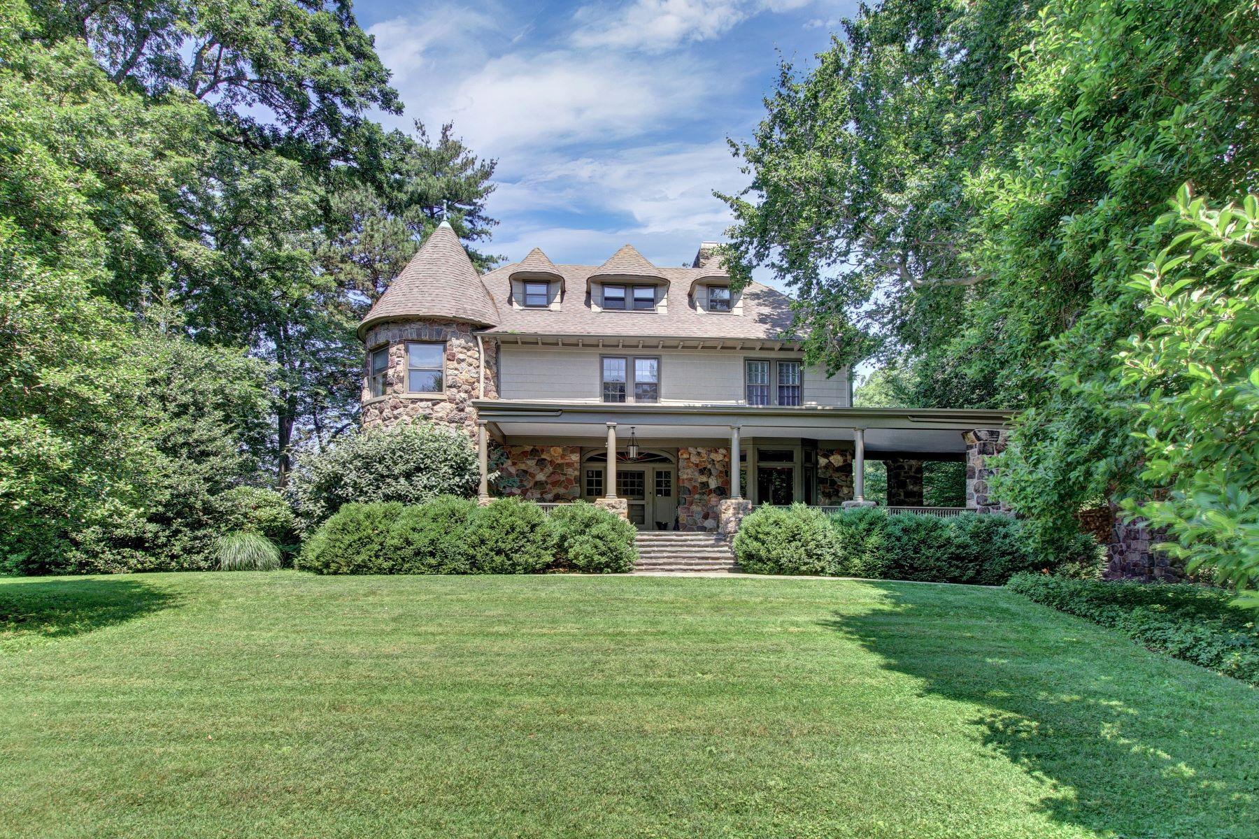 Single Family Home for Sale at Exquisite Northside estate on 1.9 park-like acres. 0.7 miles to town and NYC 15 Badeau Avenue, Summit, New Jersey 07901 United States