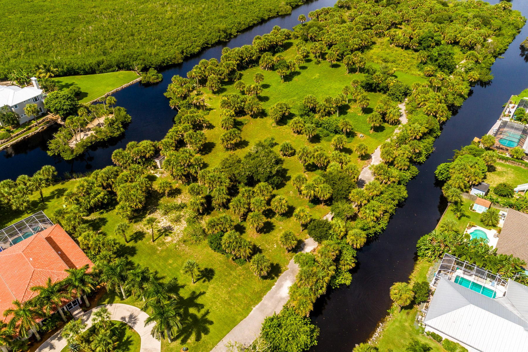 Land for Sale at 1.11 Acre Private Lot on Private, Gated Peninsula 211 Crystal Bay Lane Melbourne Beach, Florida 32951 United States