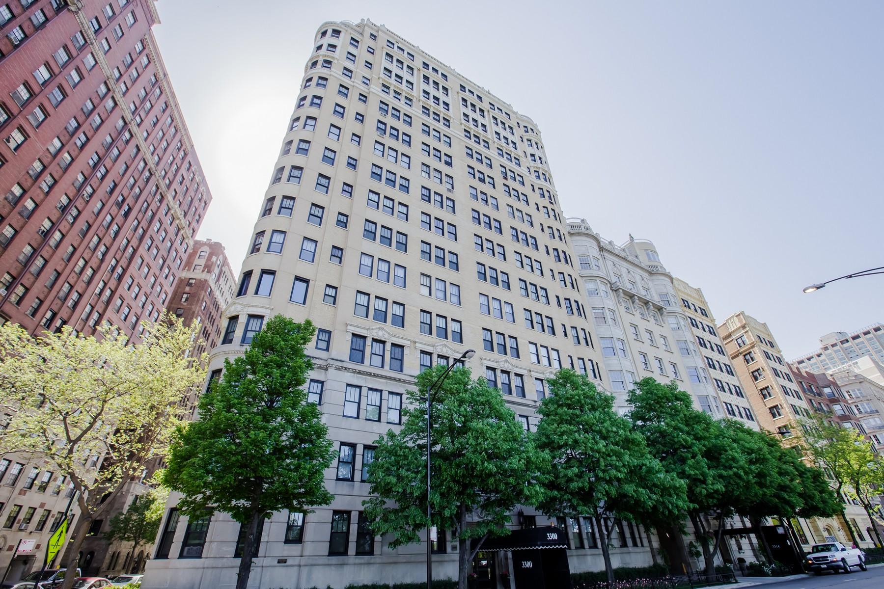 Eigentumswohnung für Verkauf beim Sophisticated Three Bedroom 3300 N Lake Shore Drive Unit 9E Lakeview, Chicago, Illinois, 60657 Vereinigte Staaten
