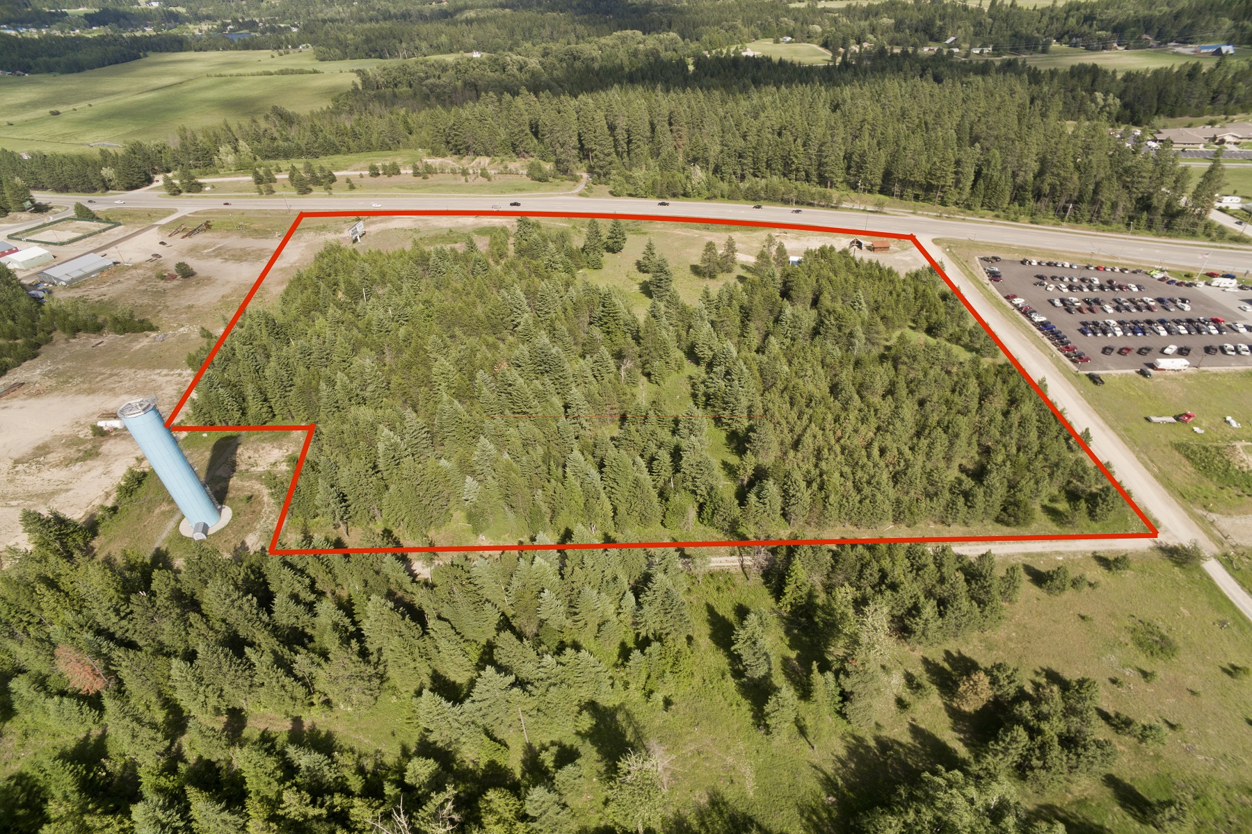 Land for Active at Fabulous Commercial Visibility 11 Harbison & Hwy 95 Sagle, Idaho 83860 United States