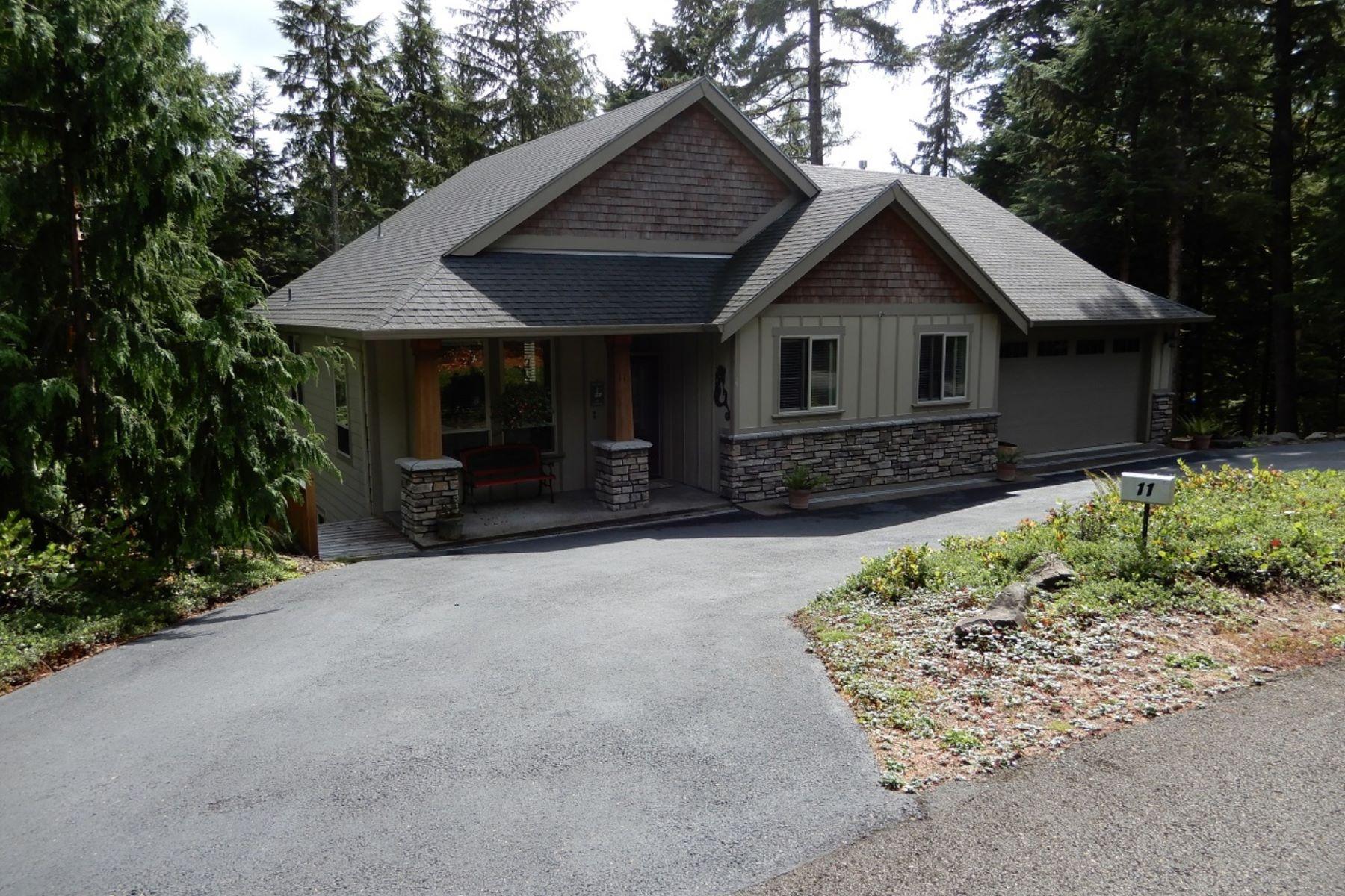 Single Family Homes pour l Vente à Salishan Living Large 11 Big Tree Road, Gleneden Beach, Oregon 97388 États-Unis