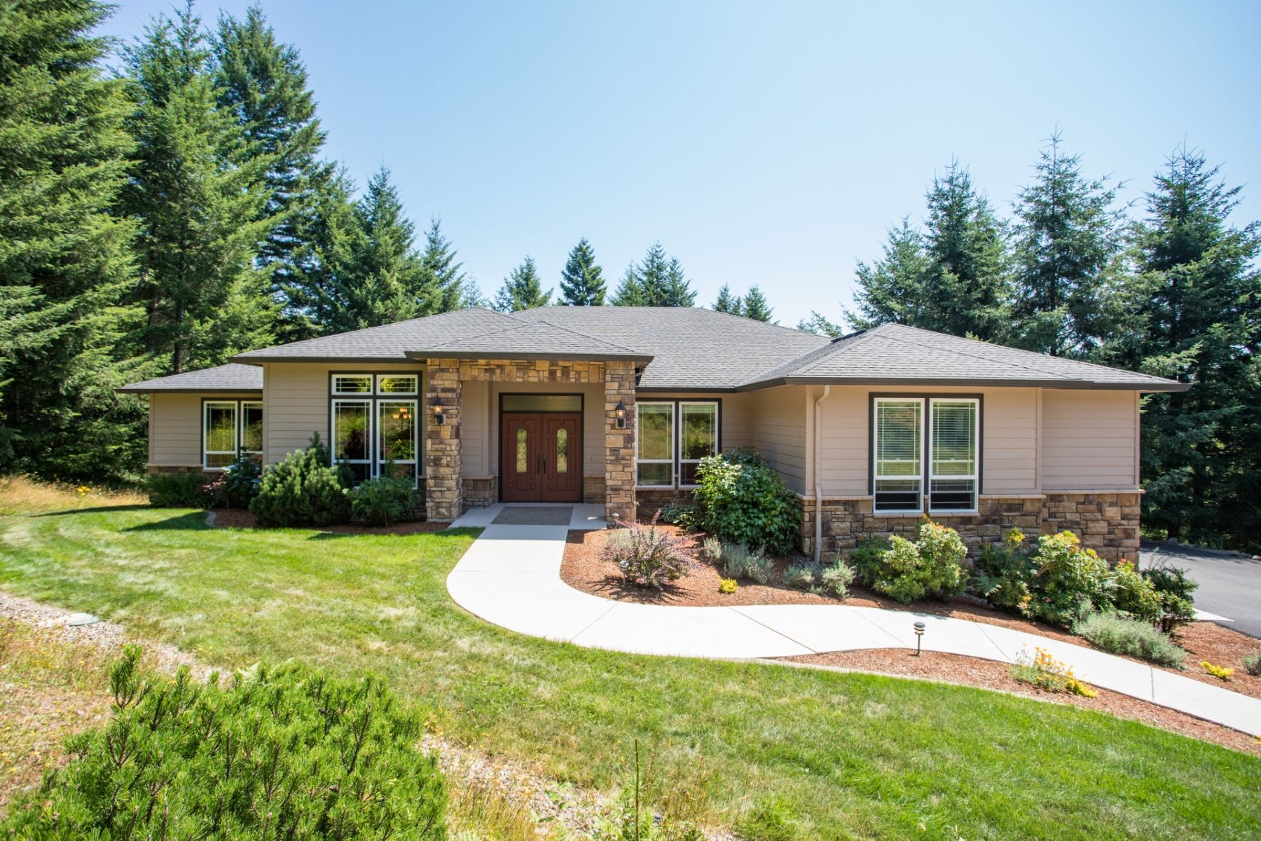 Single Family Homes for Sale at Private and Peaceful on 5+ Acres 29617 NE 64th Way Camas, Washington 98607 United States