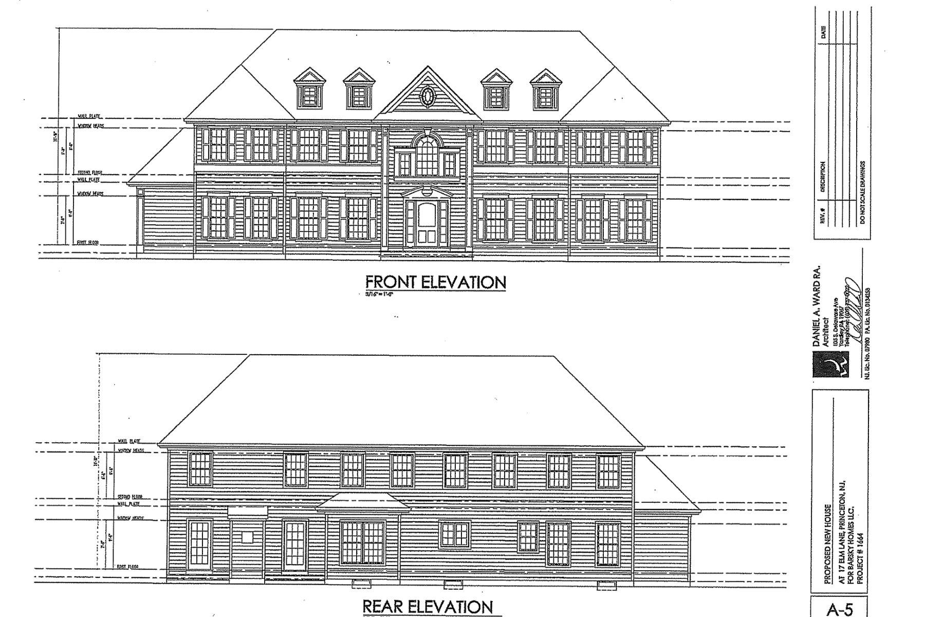 Maison unifamiliale pour l Vente à New Construction by RB Homes in Princeton's Western Section 17 Elm Lane Princeton, New Jersey, 08540 États-Unis