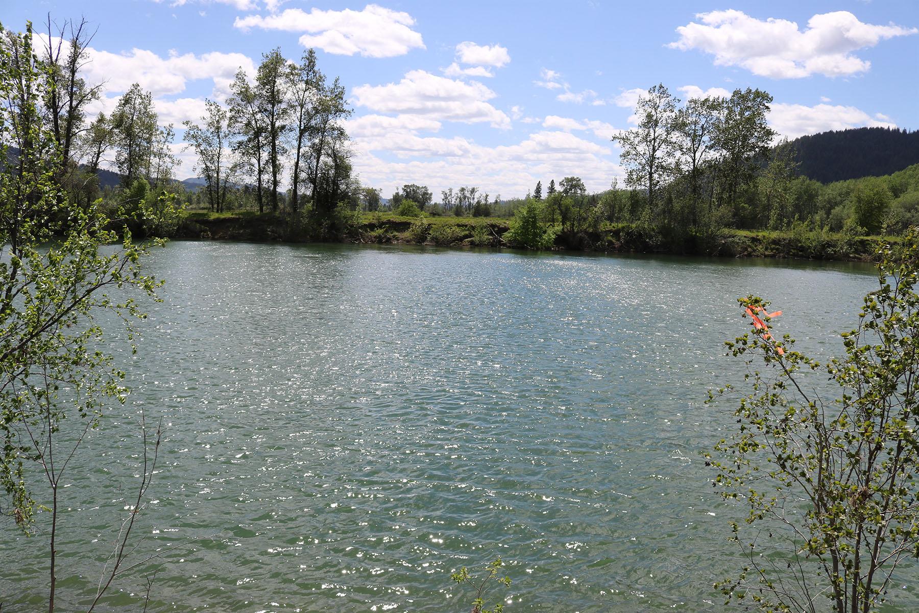 Terrain pour l Vente à 3.29 acres with 700' or so frontage on the Coeur d'Alene River NNA Coeur d'Alene River Harrison, Idaho, 83810 États-Unis