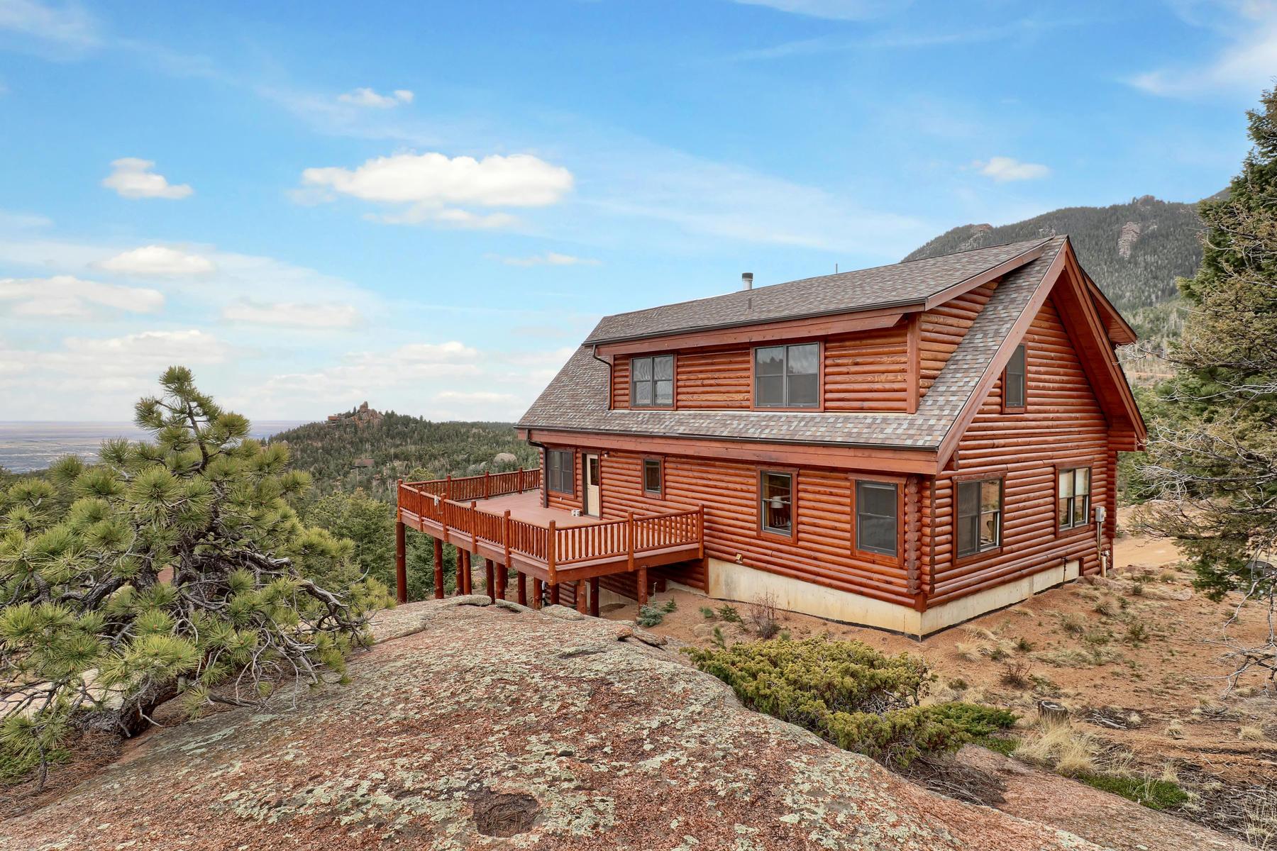 Casa Unifamiliar por un Venta en Breathtaking Panoramic Views...Unlike Anything You Have Ever Seen! 6125 Waterfall Loop Manitou Springs, Colorado 80829 Estados Unidos