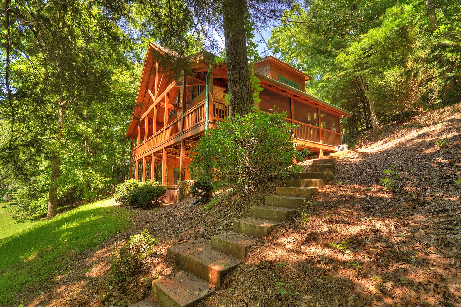 獨棟家庭住宅 為 出售 在 Toccoa River Retreat 668 White Pine Trail Suches, 喬治亞州 30572 美國