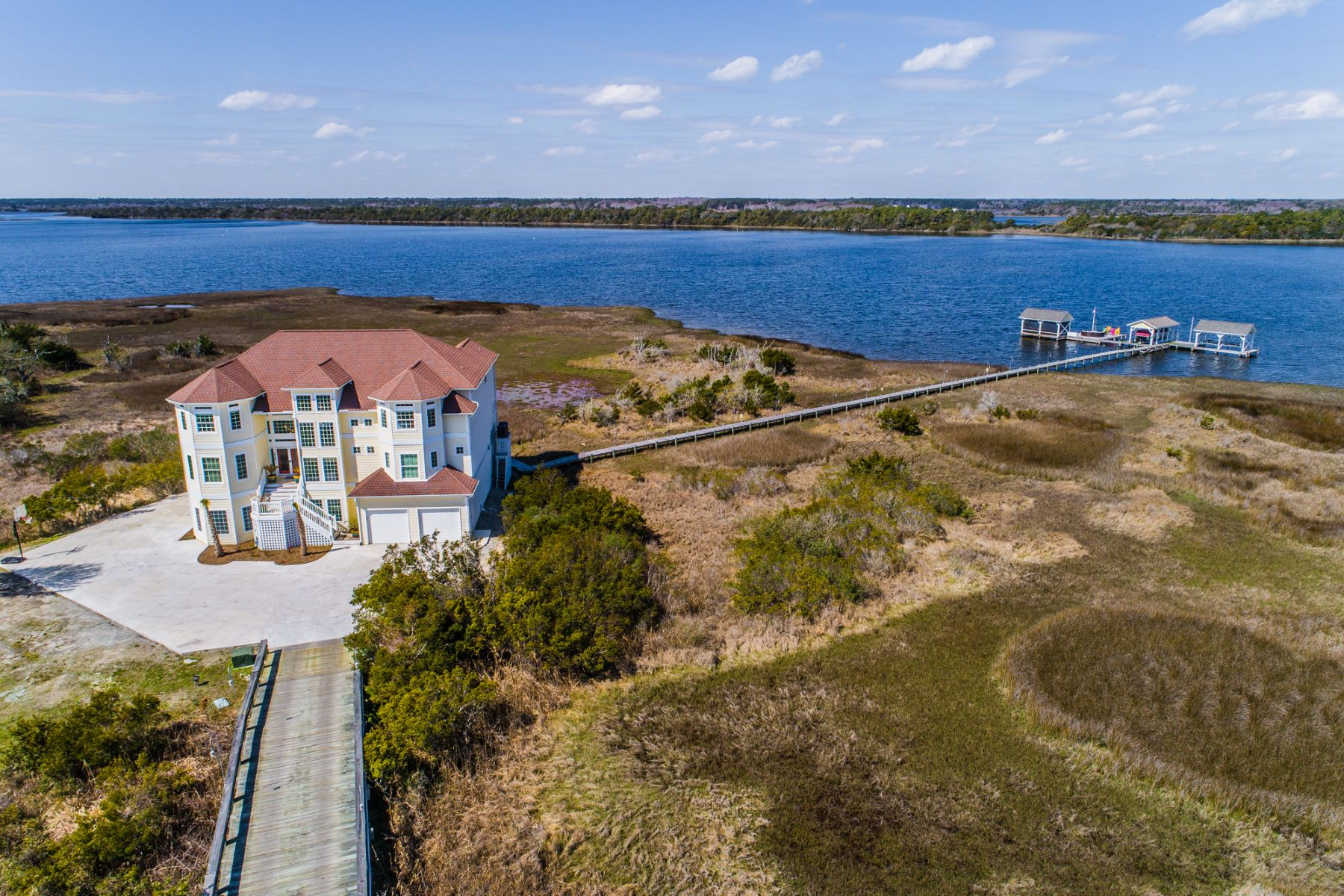 Single Family Home for Sale at Glorious Private Island Estate 4730 23rd Ave, N Topsail Beach, North Carolina, 28460 United States