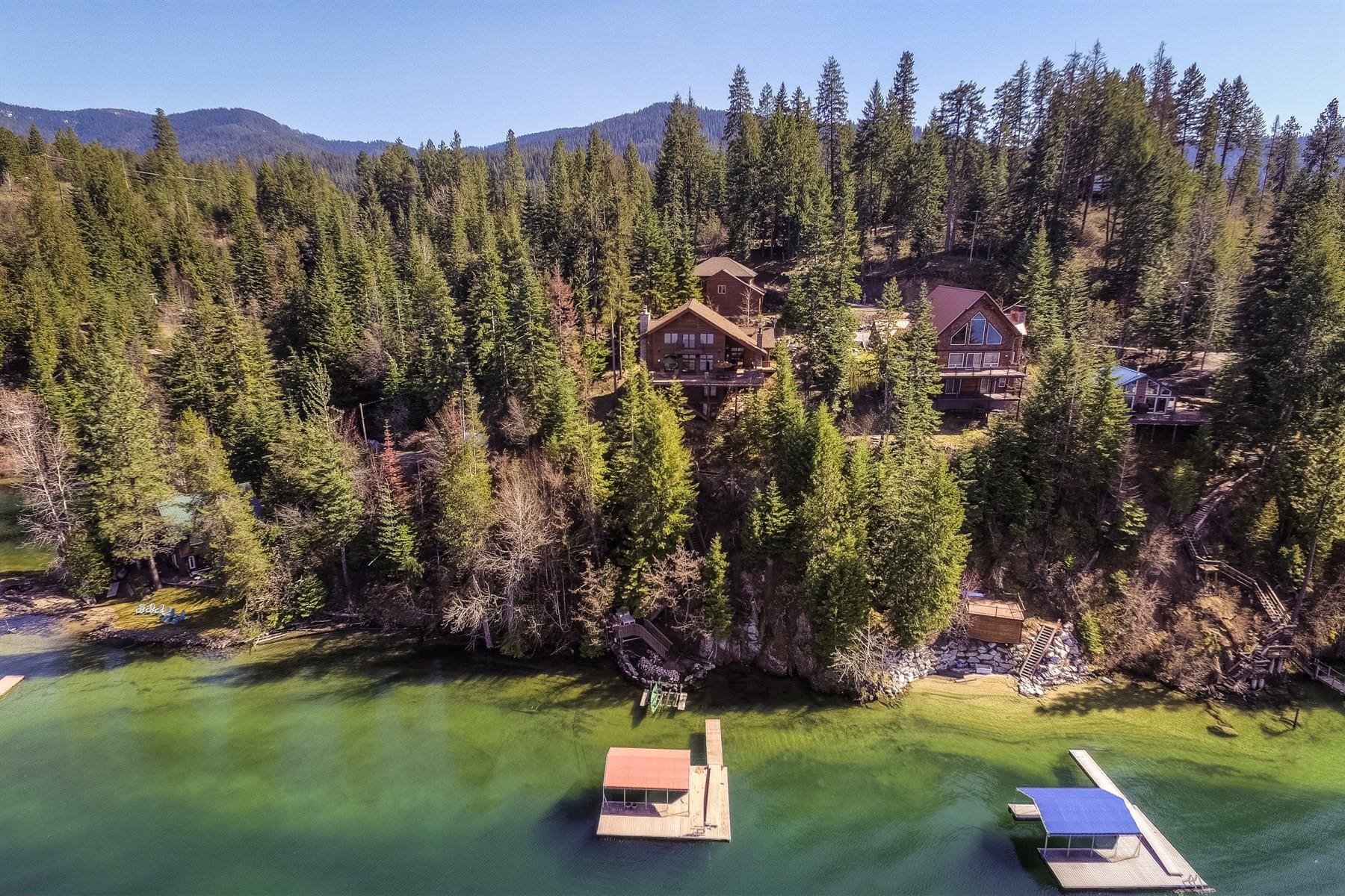 Moradia para Venda às Luxurious Hayden Lakefront Custom Home 8159 E Dal Dr, Hayden, Idaho, 83835 Estados Unidos