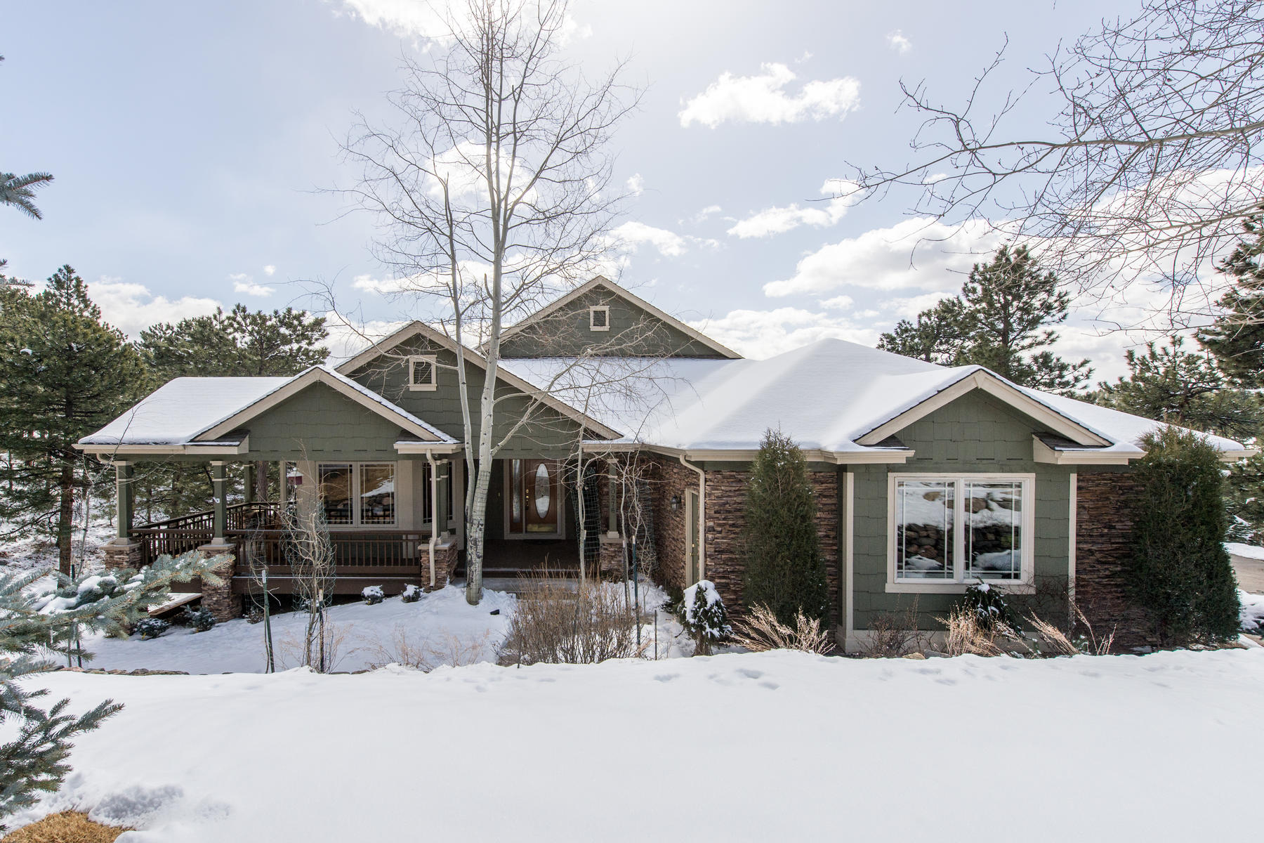 Single Family Home for Active at Classic Mountain Contemporary Home with Professional Landscaping 30276 Telluride Lane Evergreen, Colorado 80439 United States