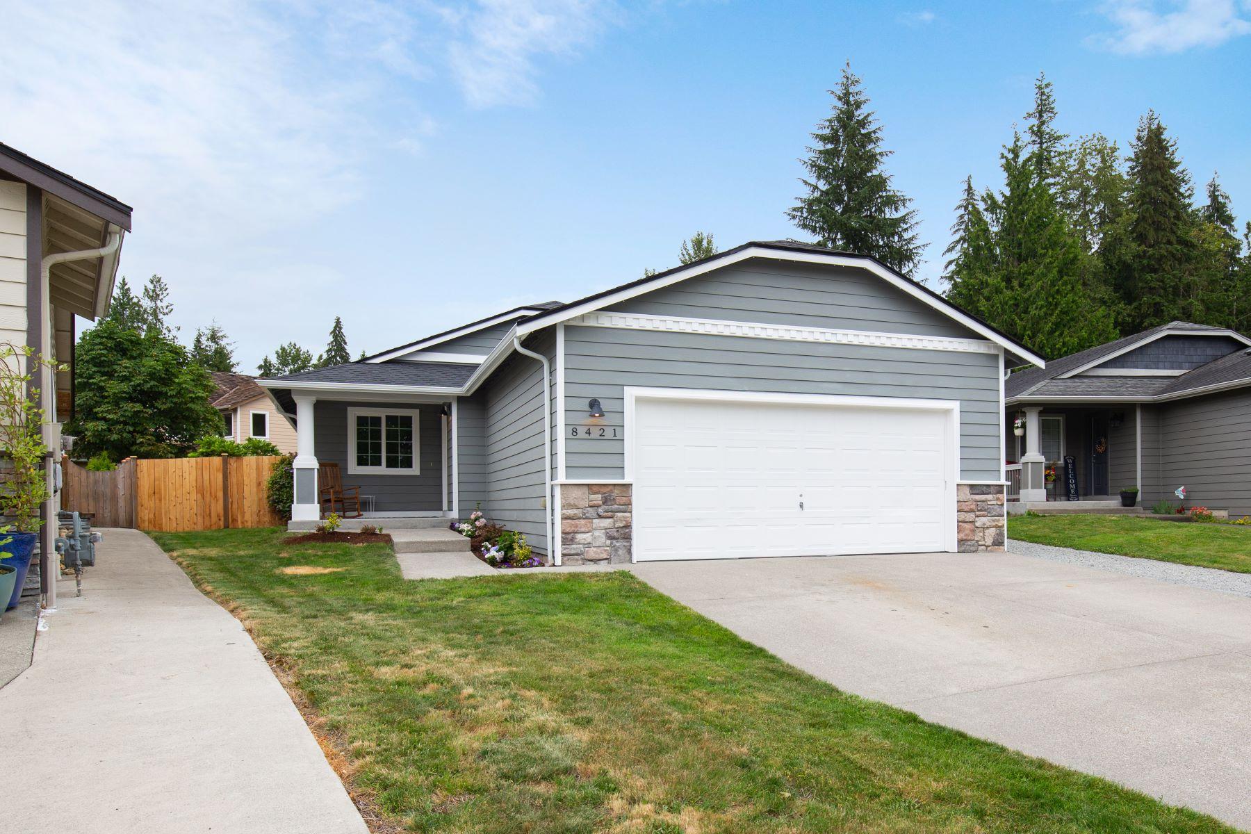 Single Family Homes for Sale at Remodeled Rambler 8421 179th Place NE Arlington, Washington 98223 United States
