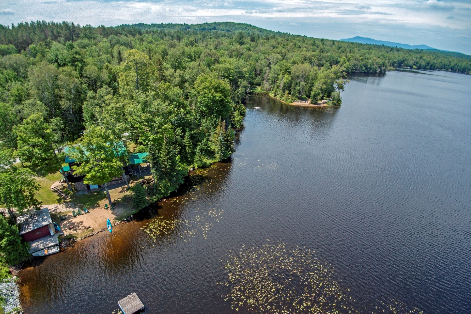 Multi-Family Homes for Sale at Stunning Multi Family with 37 acres and 1/2 mile shoreline 337 Big Brook Road Indian Lake, New York 12842 United States