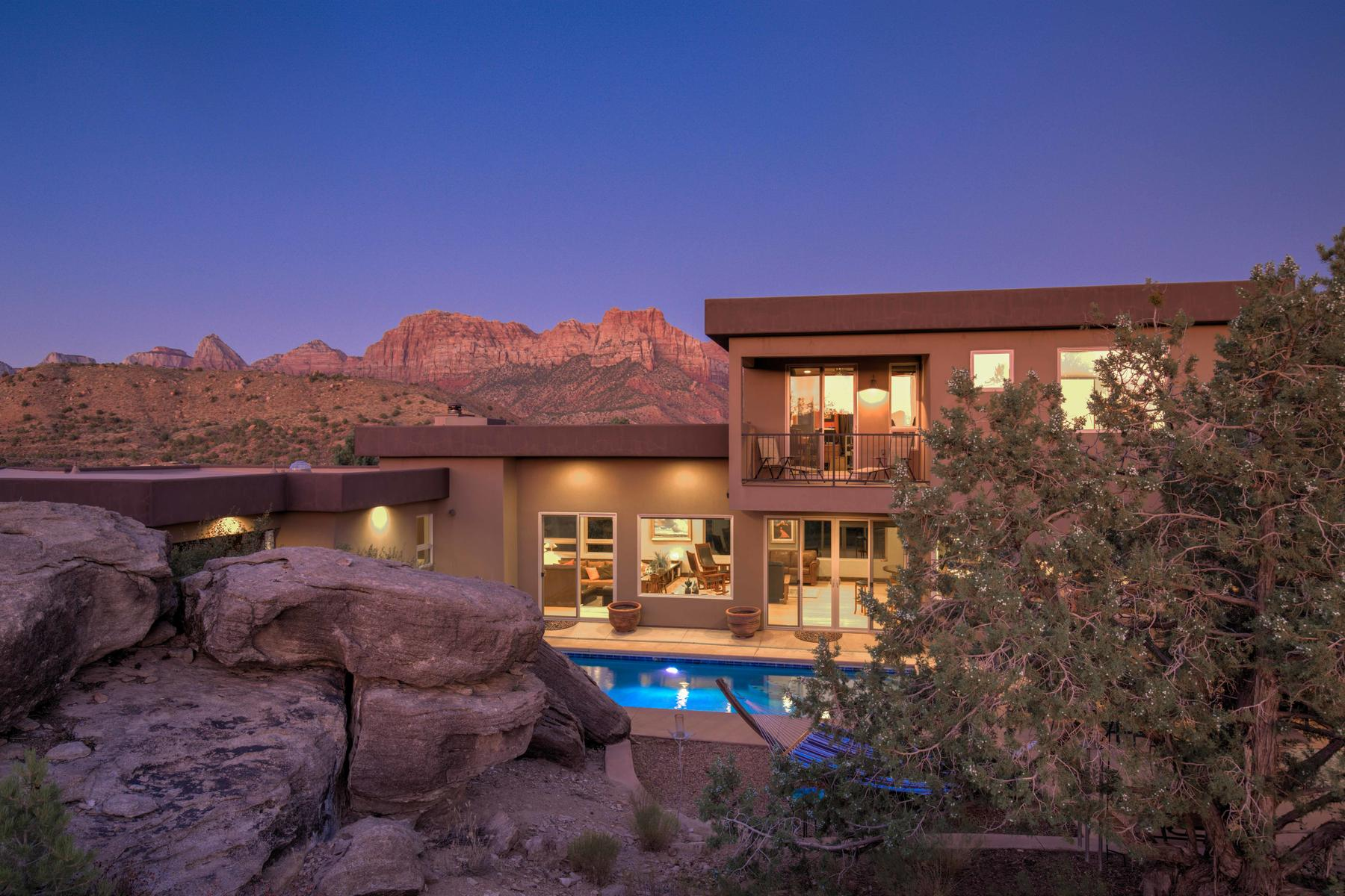 Single Family Homes for Sale at This Home in Zion Has it ALL! 2561 Anasazi Way Springdale, Utah 84767 United States