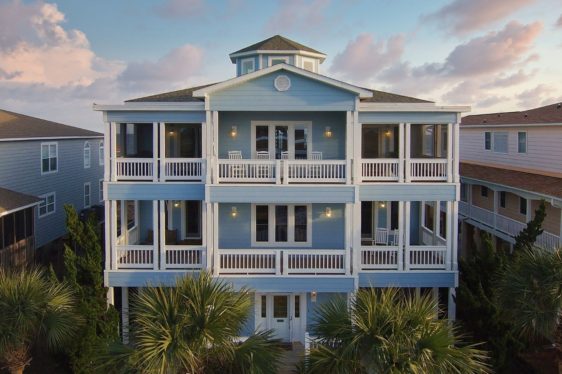 Single Family Homes for Active at Exclusive Oceanfront Home 135 Ocean Isle West Boulevard Ocean Isle Beach, North Carolina 28469 United States
