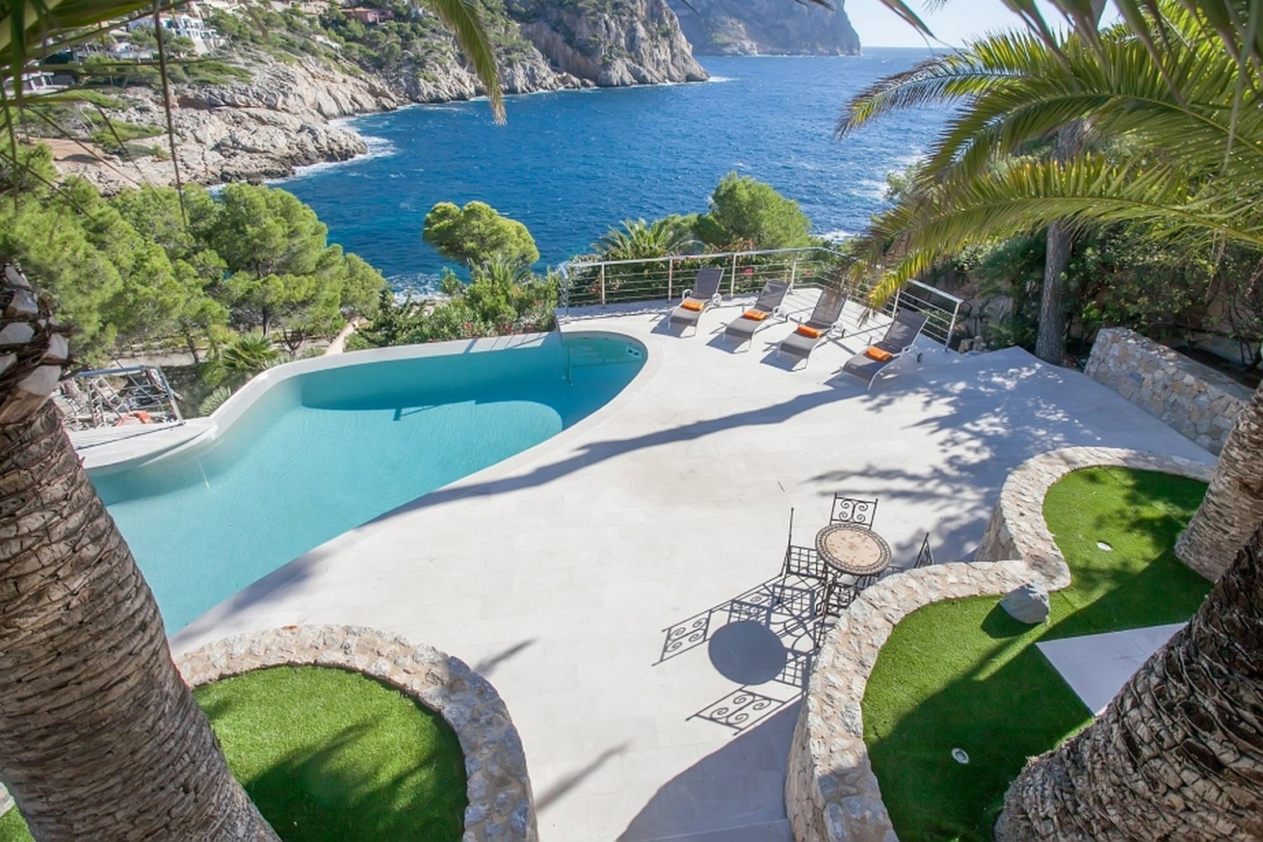 Other Residential for Sale at Unique sea line villa with boat house, sea access Andratx, Mallorca 07151 Spain
