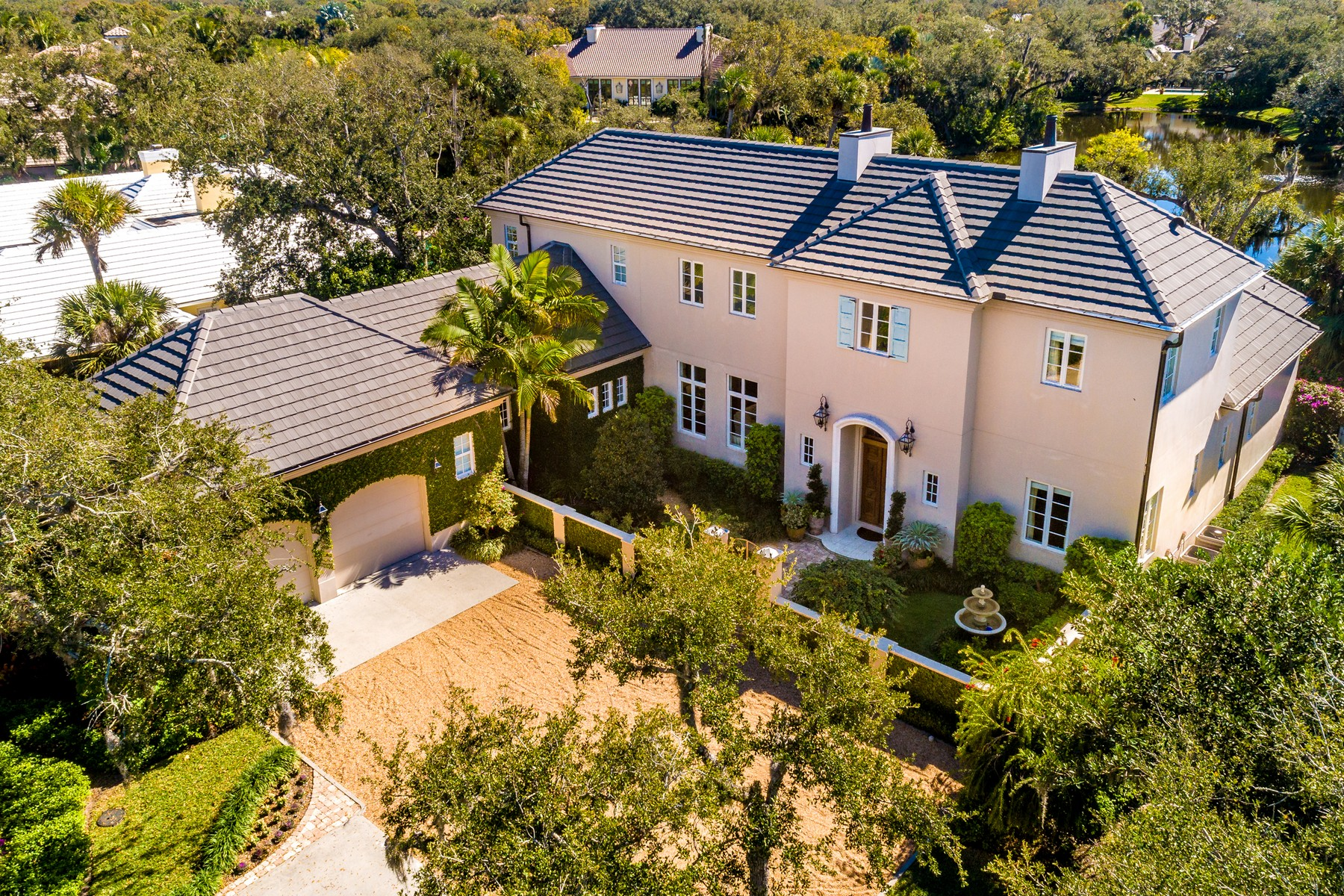 Single Family Homes for Sale at Impeccable Lakefront Estate 131 Shores Drive Vero Beach, Florida 32963 United States