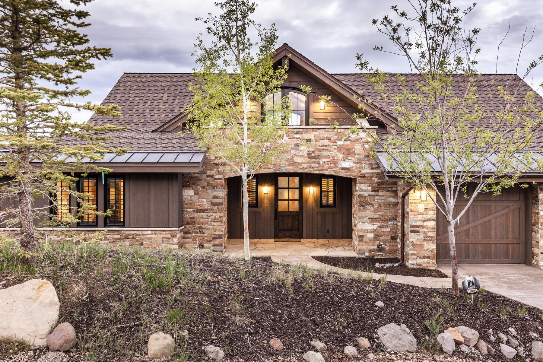 Single Family Homes por un Venta en Custom Dye Course Cabin in Promontory Ranch Club 9468 Dye Cabins Dr Park City, Utah 84098 Estados Unidos