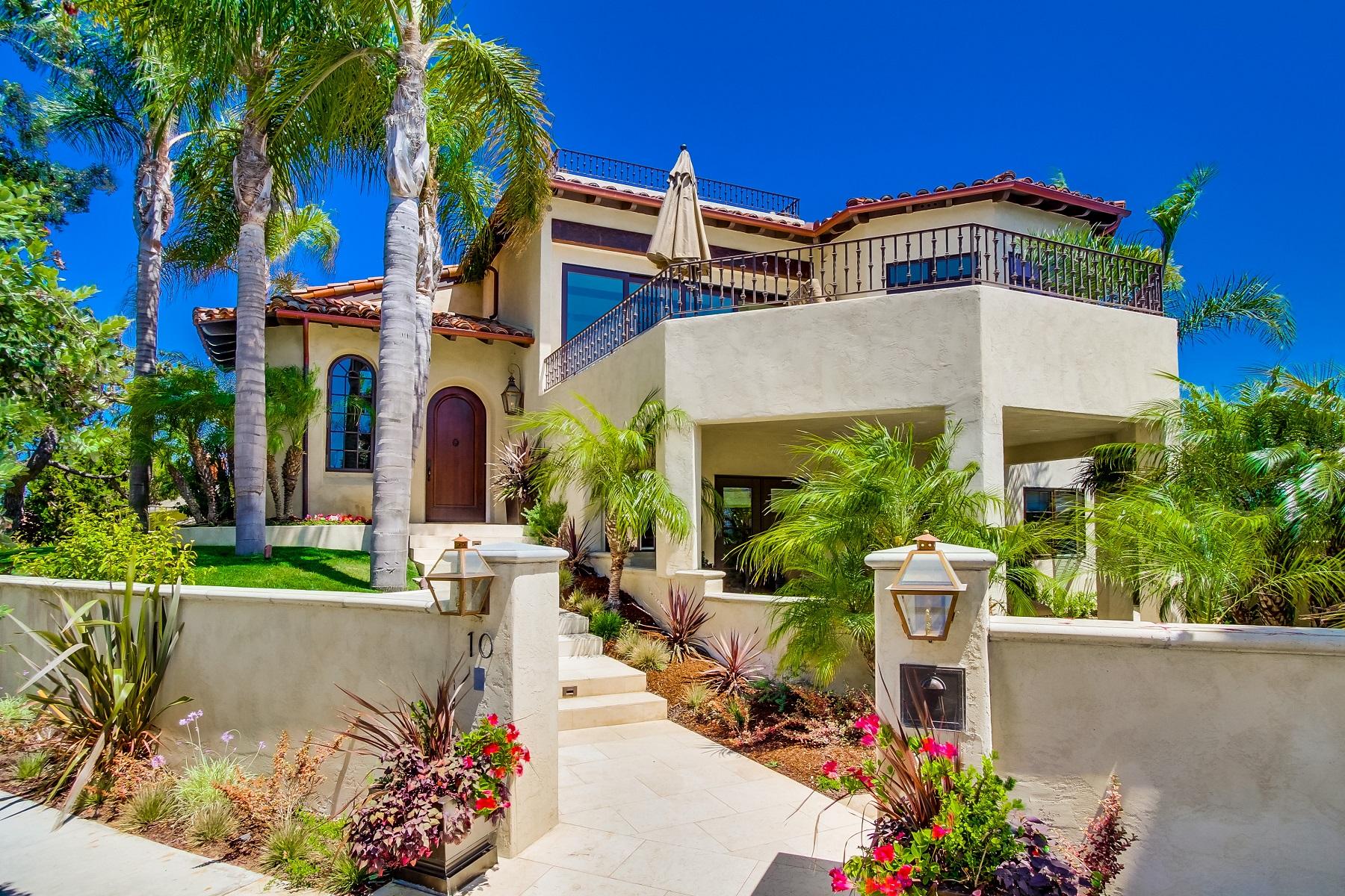 Casa Unifamiliar por un Venta en 10 Ocean Court Coronado, California 92118 Estados Unidos