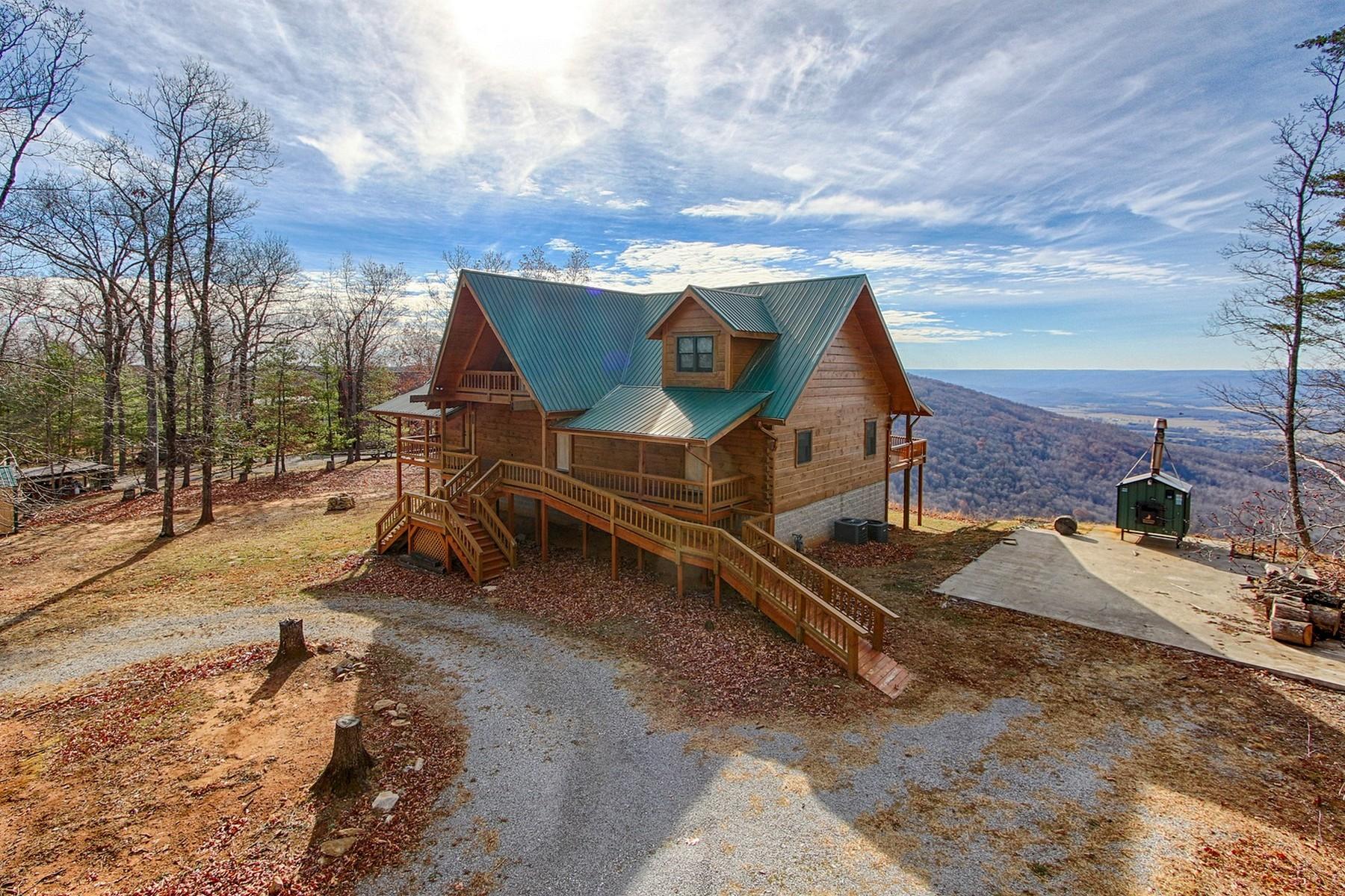 Maison unifamiliale pour l Vente à Custom, Handcrafted Log Cabin 298 Blackburn Road Pikeville, Tennessee 37367 États-Unis