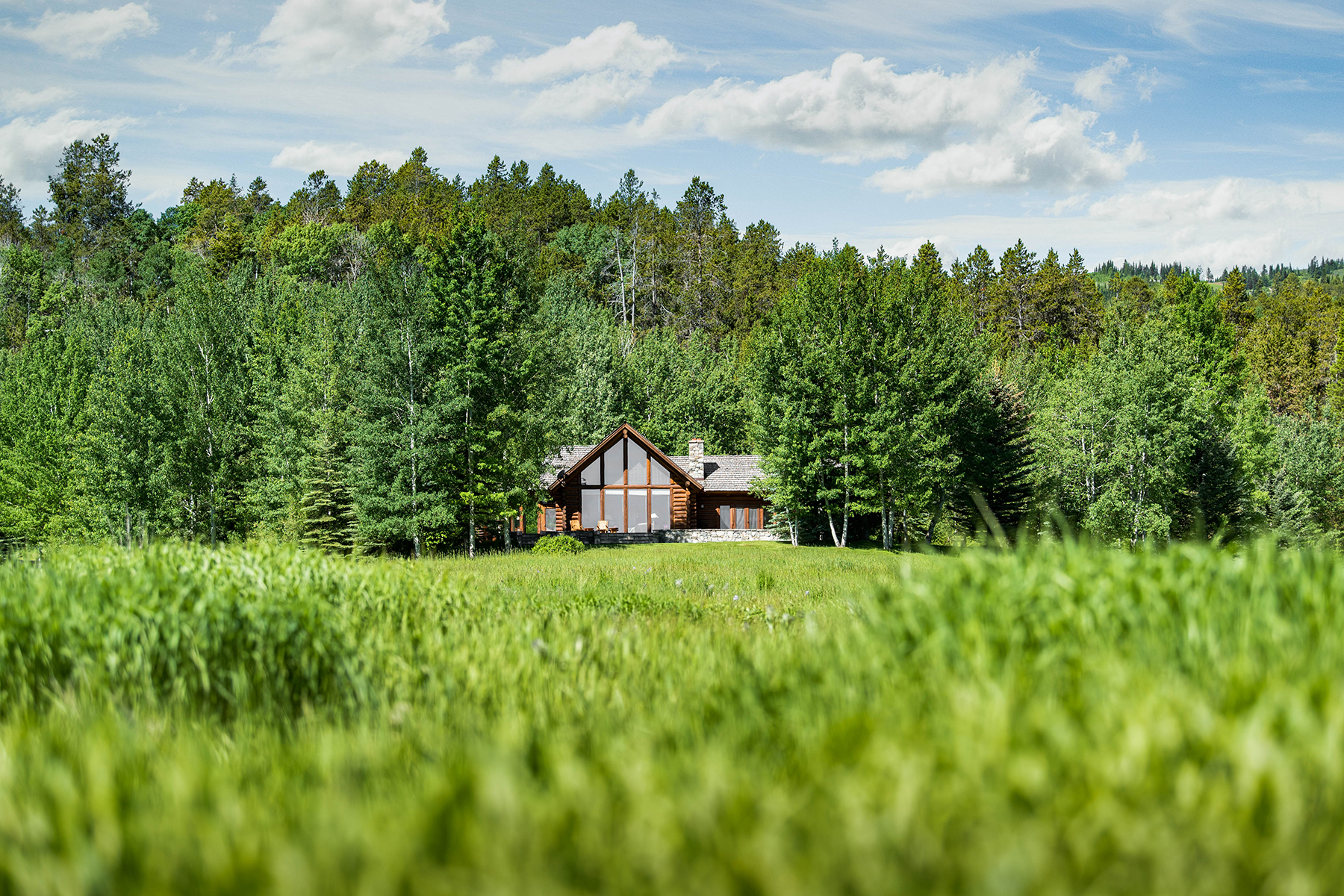 Single Family Homes for Sale at Private Acreage and Custom Log Home 8750 S 4500 W Victor, Idaho 83455 United States