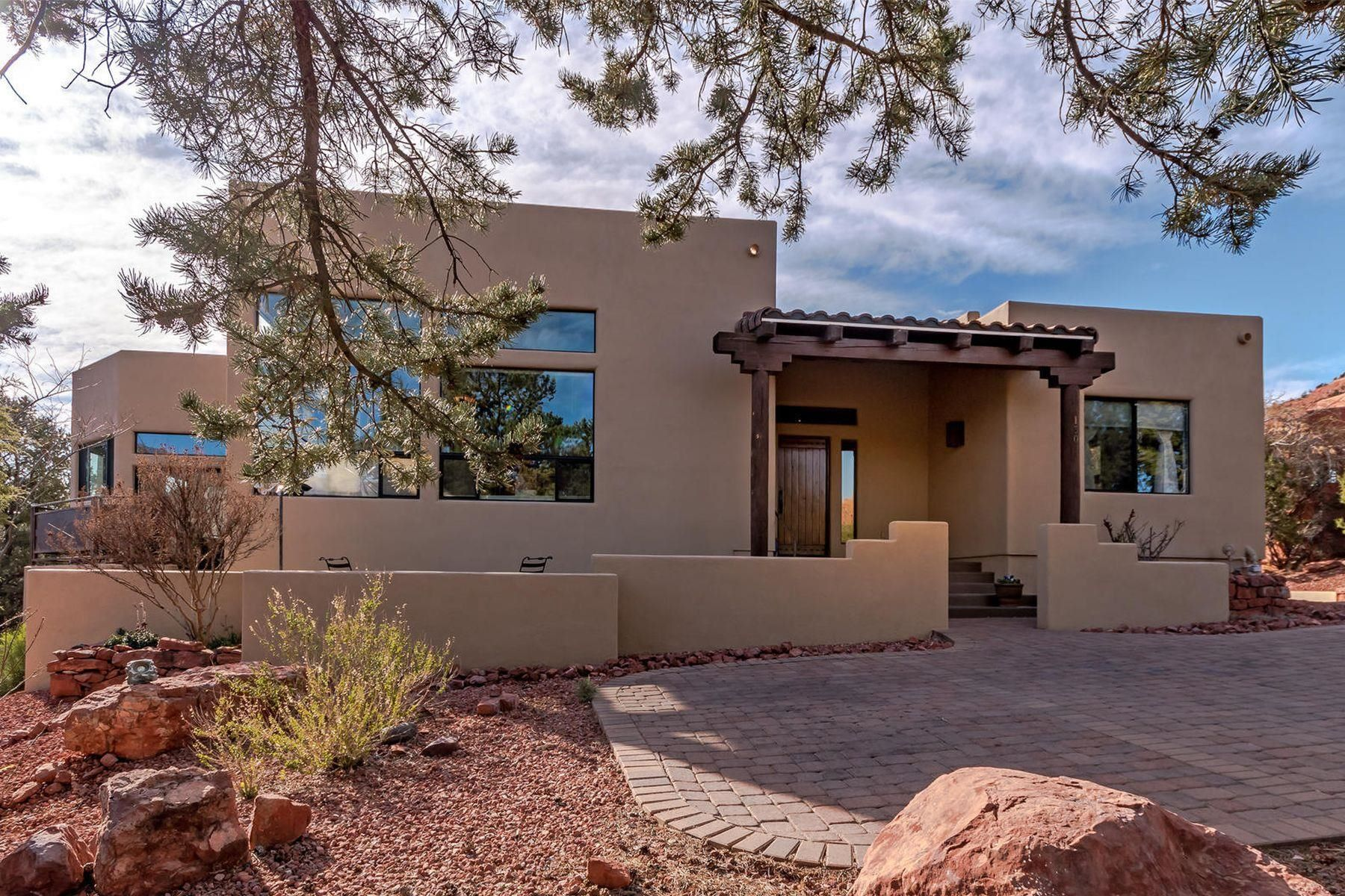 Single Family Home for Sale at Contemporary Southwest Gem 130 N Palisades Drive, Sedona, Arizona, 86336 United States
