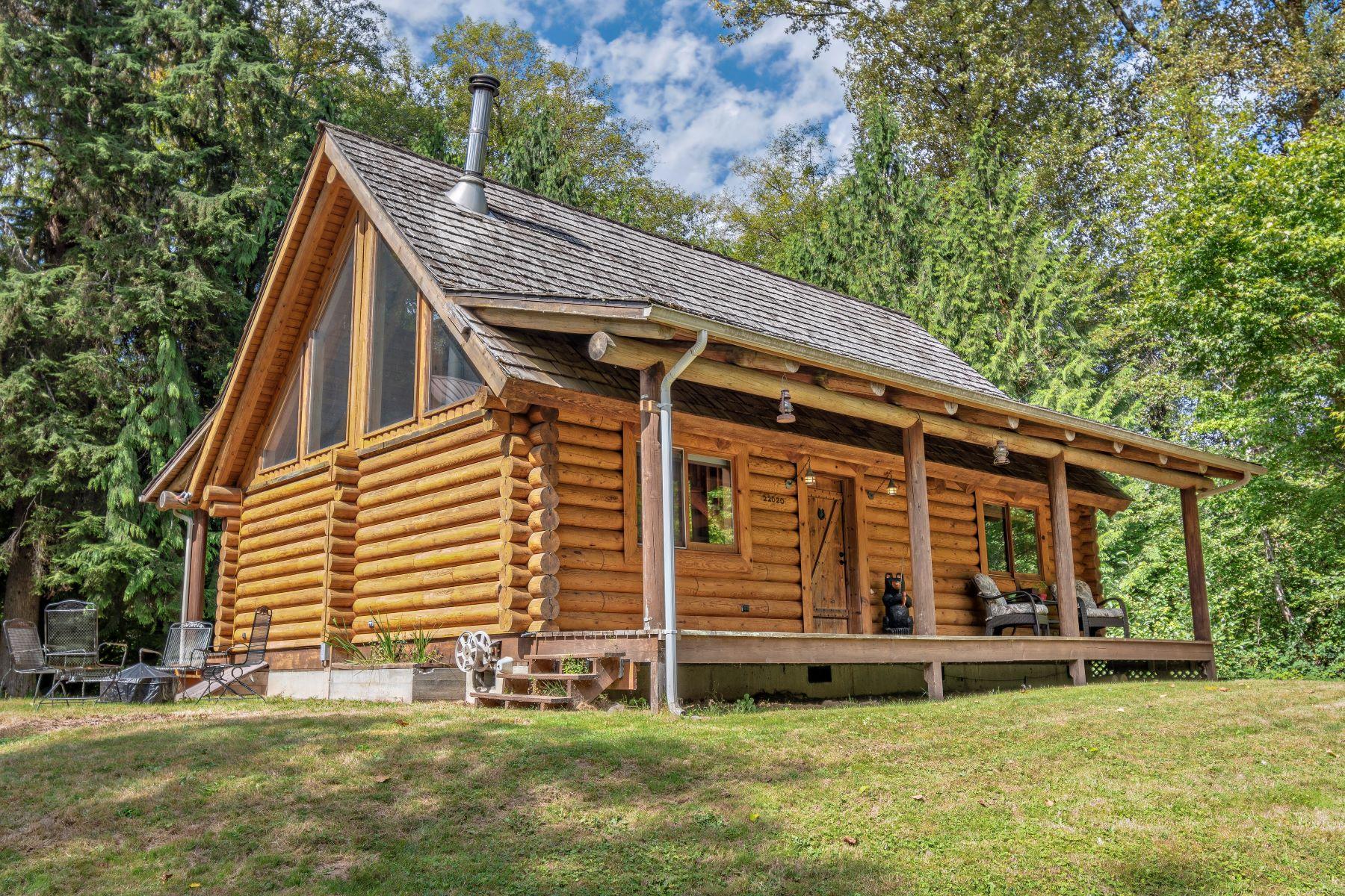 Single Family Homes for Sale at Craftsman Log Home 22020 149th Ave SE Monroe, Washington 98272 United States