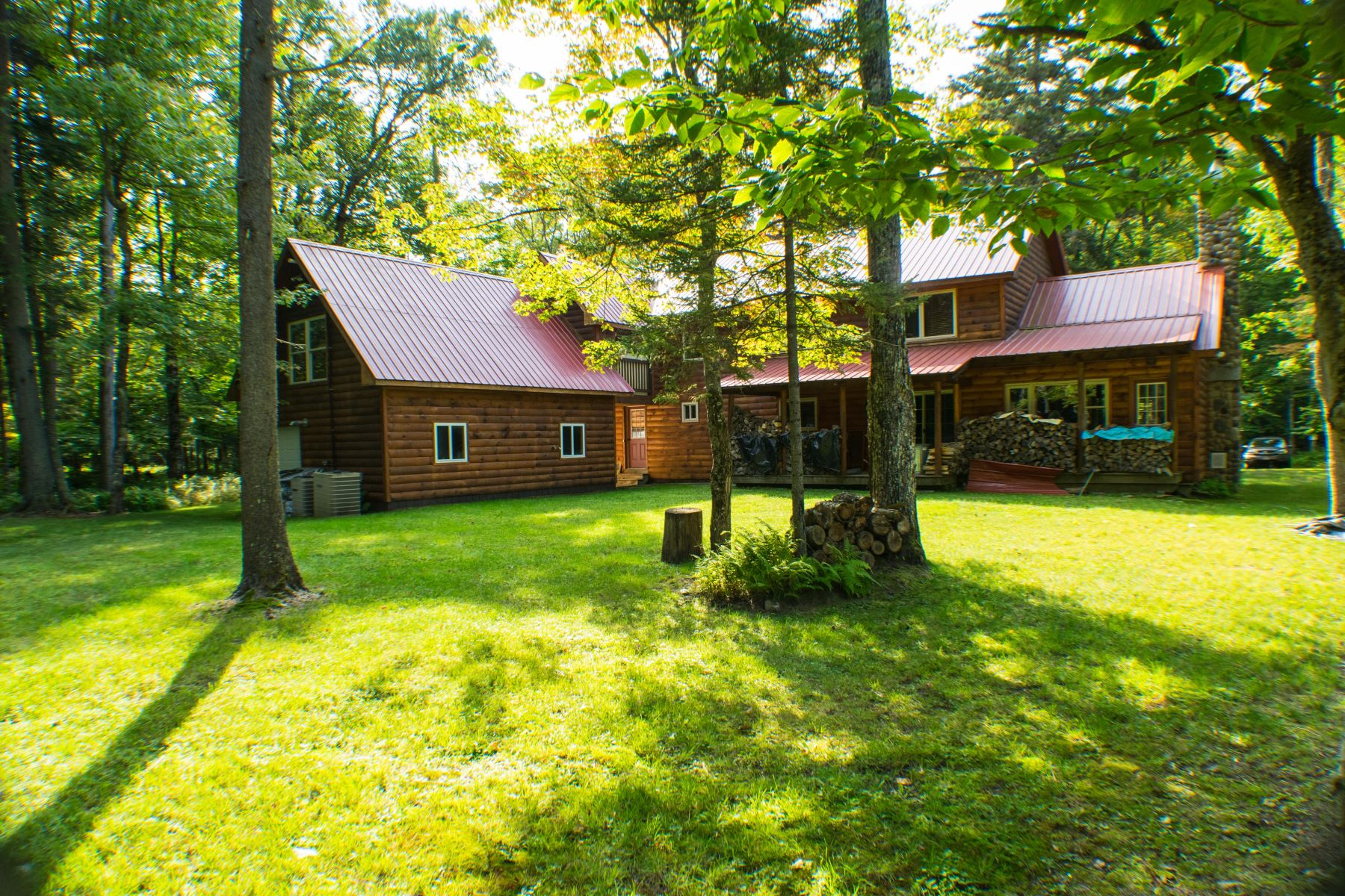 Additional photo for property listing at Private Log Home Near Big Moose Lake 171 Darts Lake Road Big Moose, New York 13331 United States