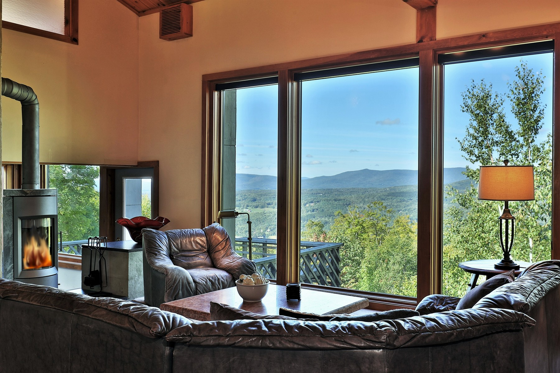 Single Family Homes for Sale at Contemporary Chalet with Stunning Mountain Views 935 Andover Ridge Rd Andover, Vermont 05143 United States