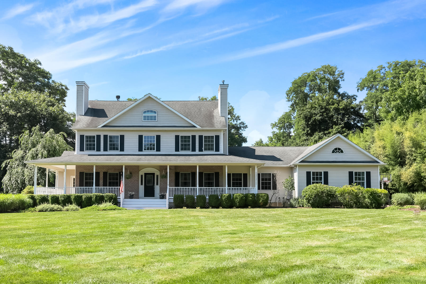 Single Family Homes for Active at Stunning Custom Colonial 21 Prothero Road Colts Neck, New Jersey 07722 United States
