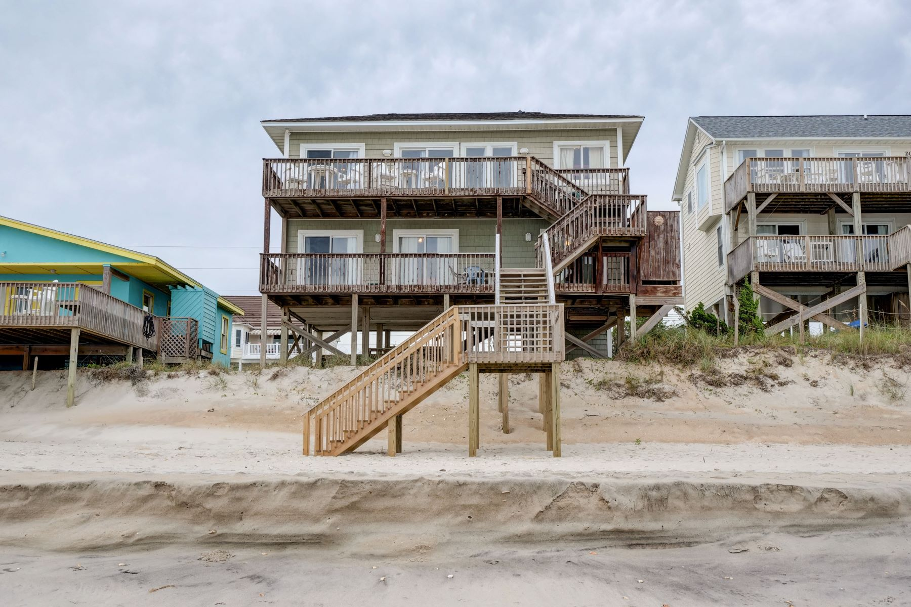Single Family Homes for Sale at Beach Front Home in Surf City 2008 S Shore Dr Surf City, North Carolina 28445 United States